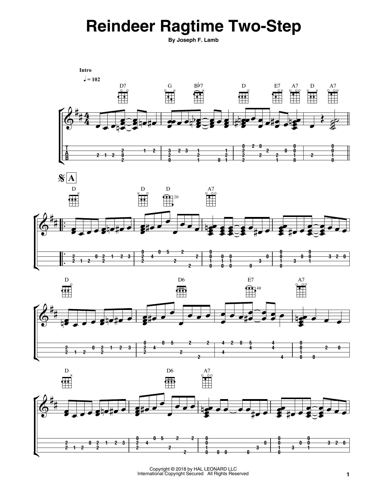 Reindeer Ragtime Two-Step Sheet Music