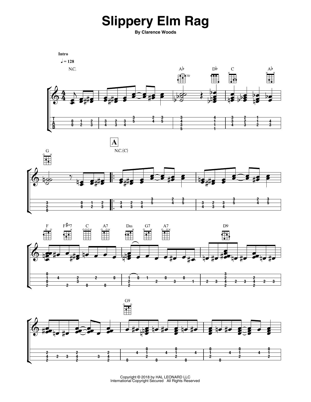 Slippery Elm Rag Sheet Music
