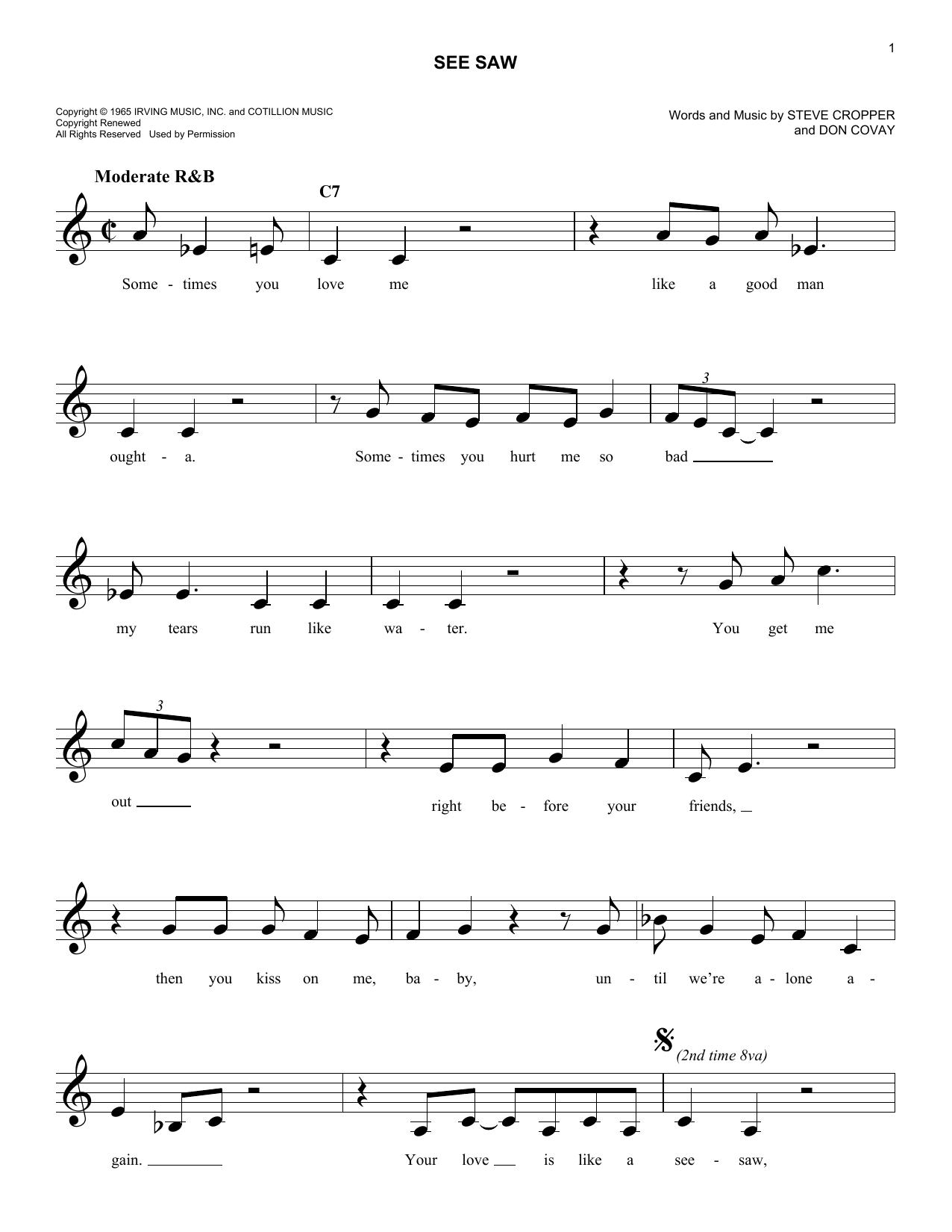 See Saw Sheet Music