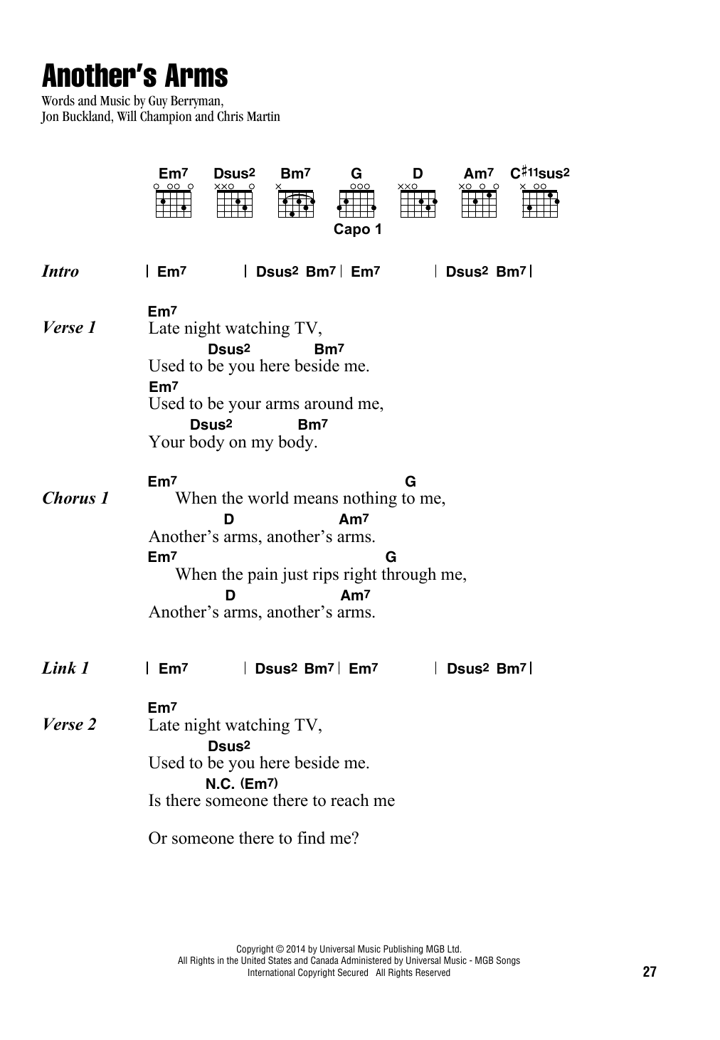 Another's Arms Sheet Music