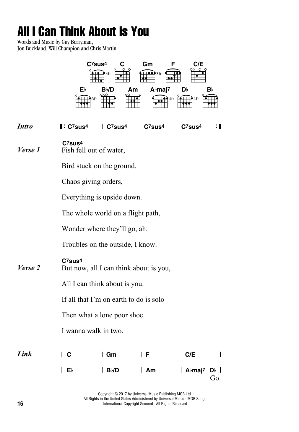 All I Can Think About Is You (Lyrics & Chords)