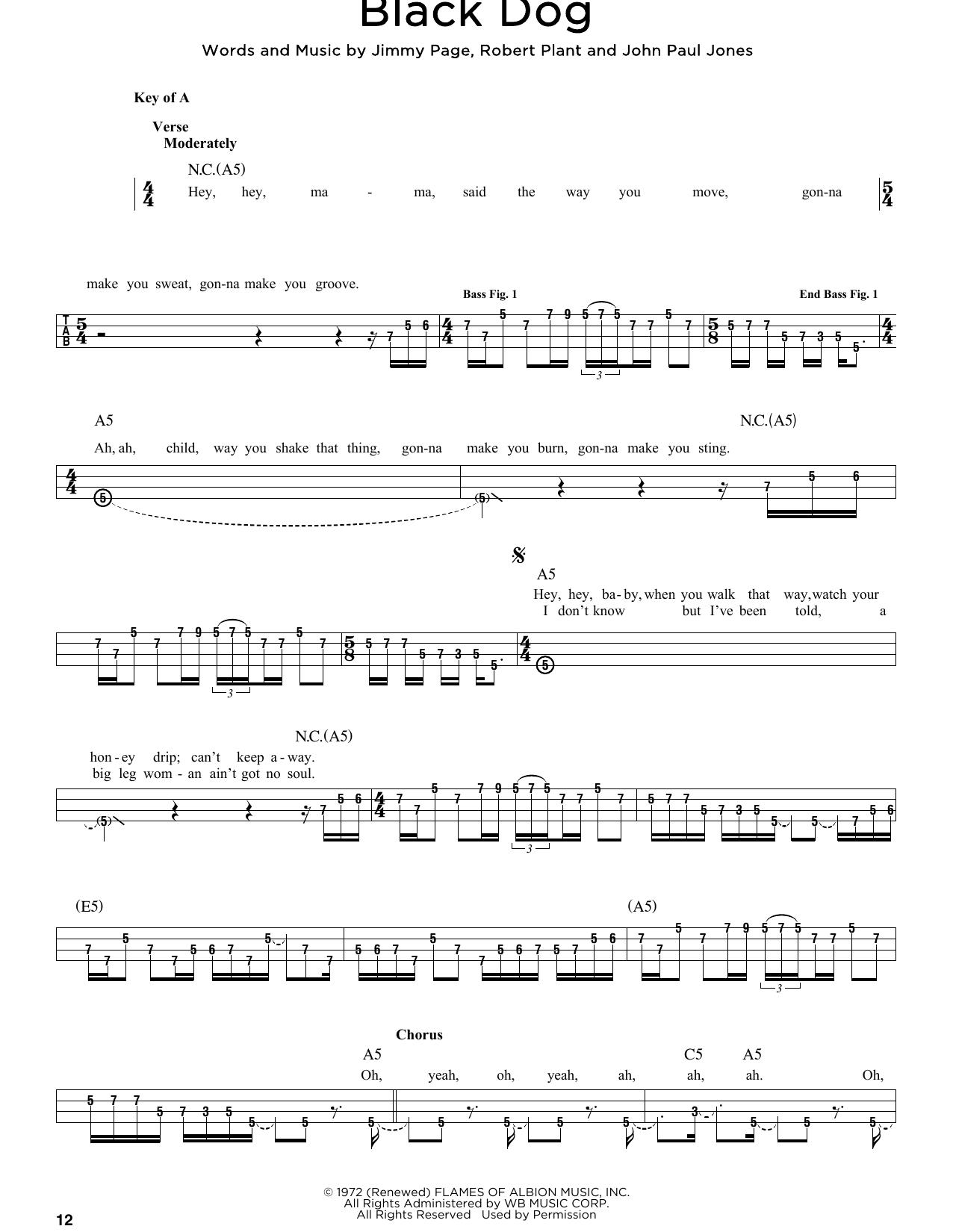 Black Dog Sheet Music