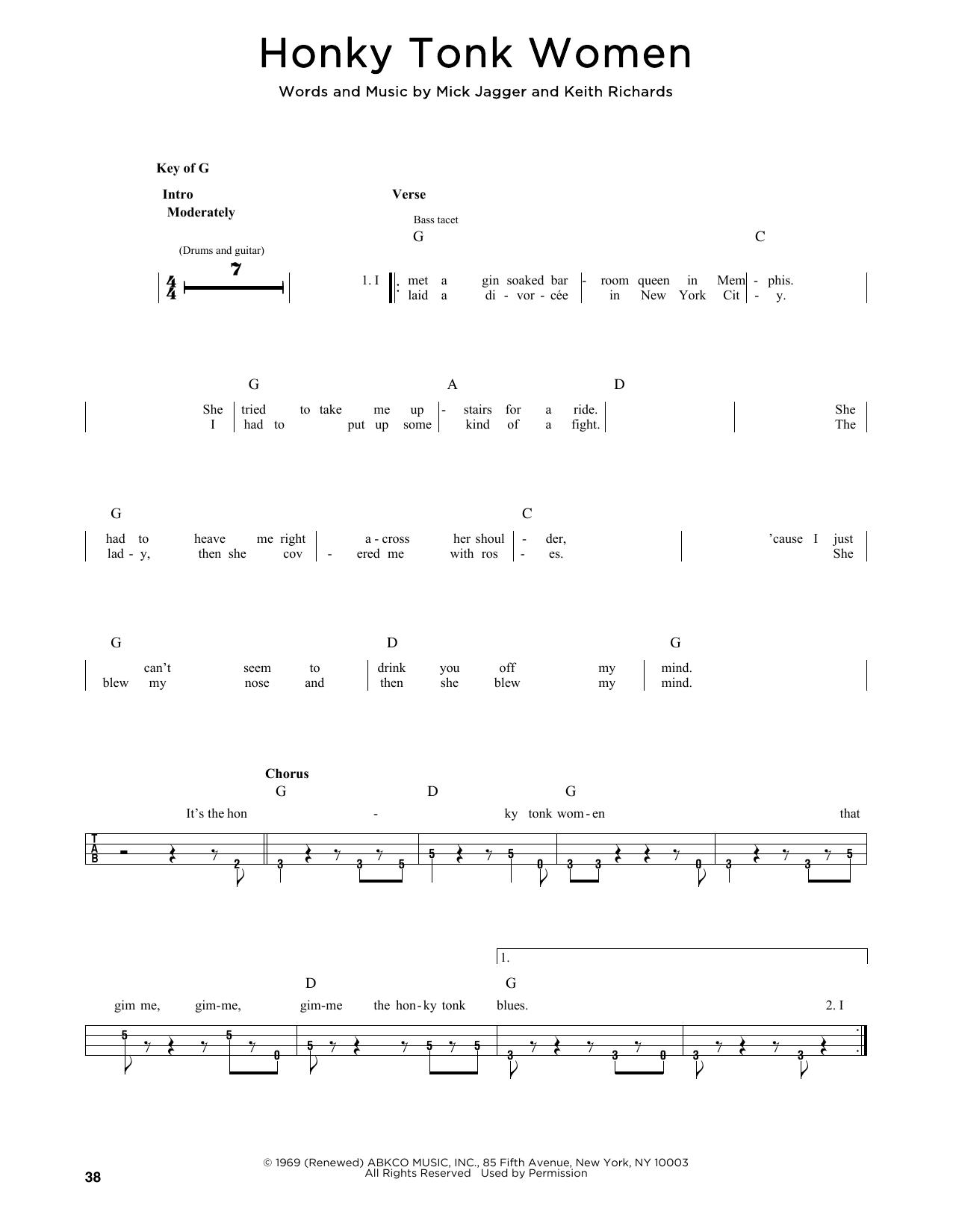Honky Tonk Women (Bass)