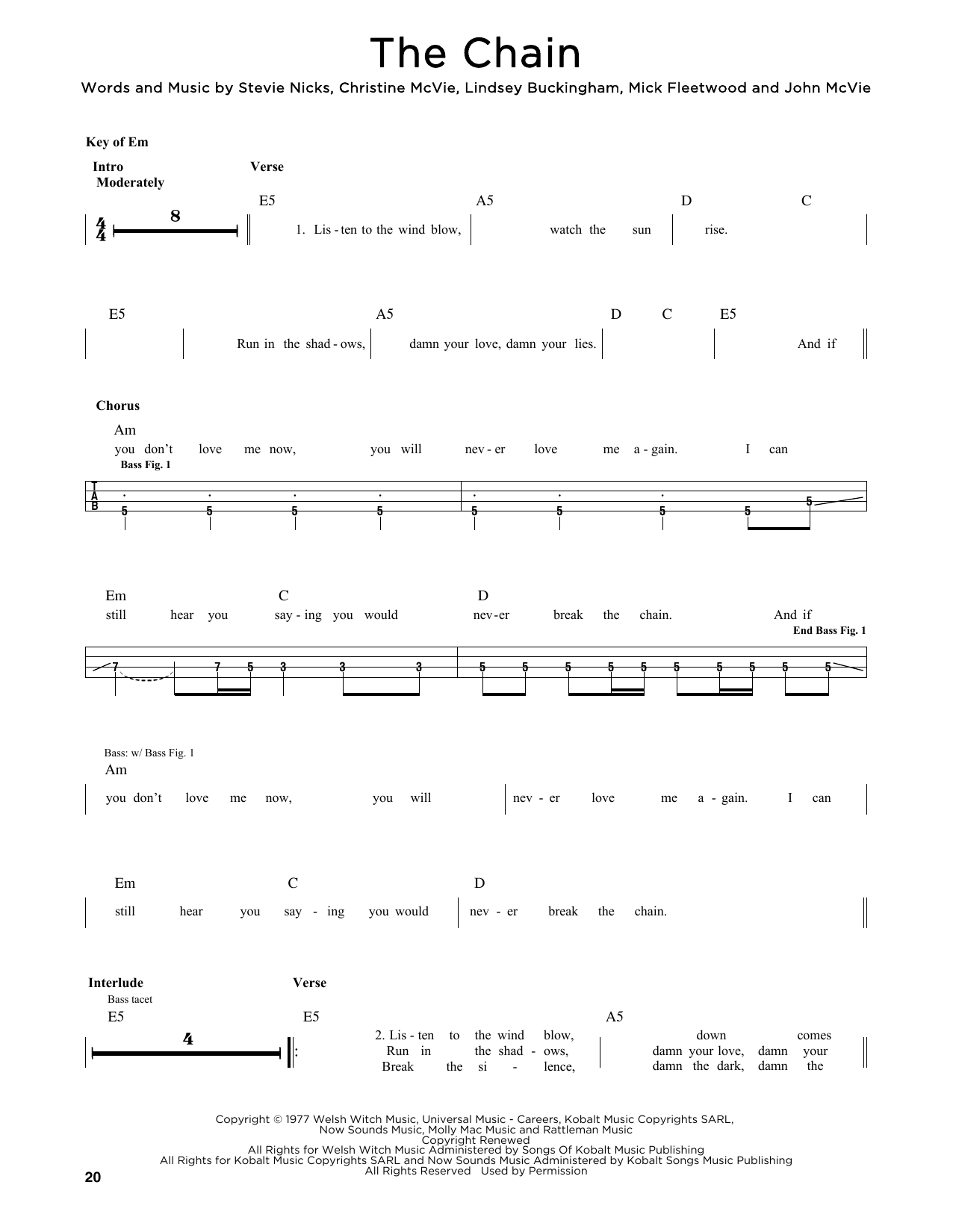 The Chain Sheet Music
