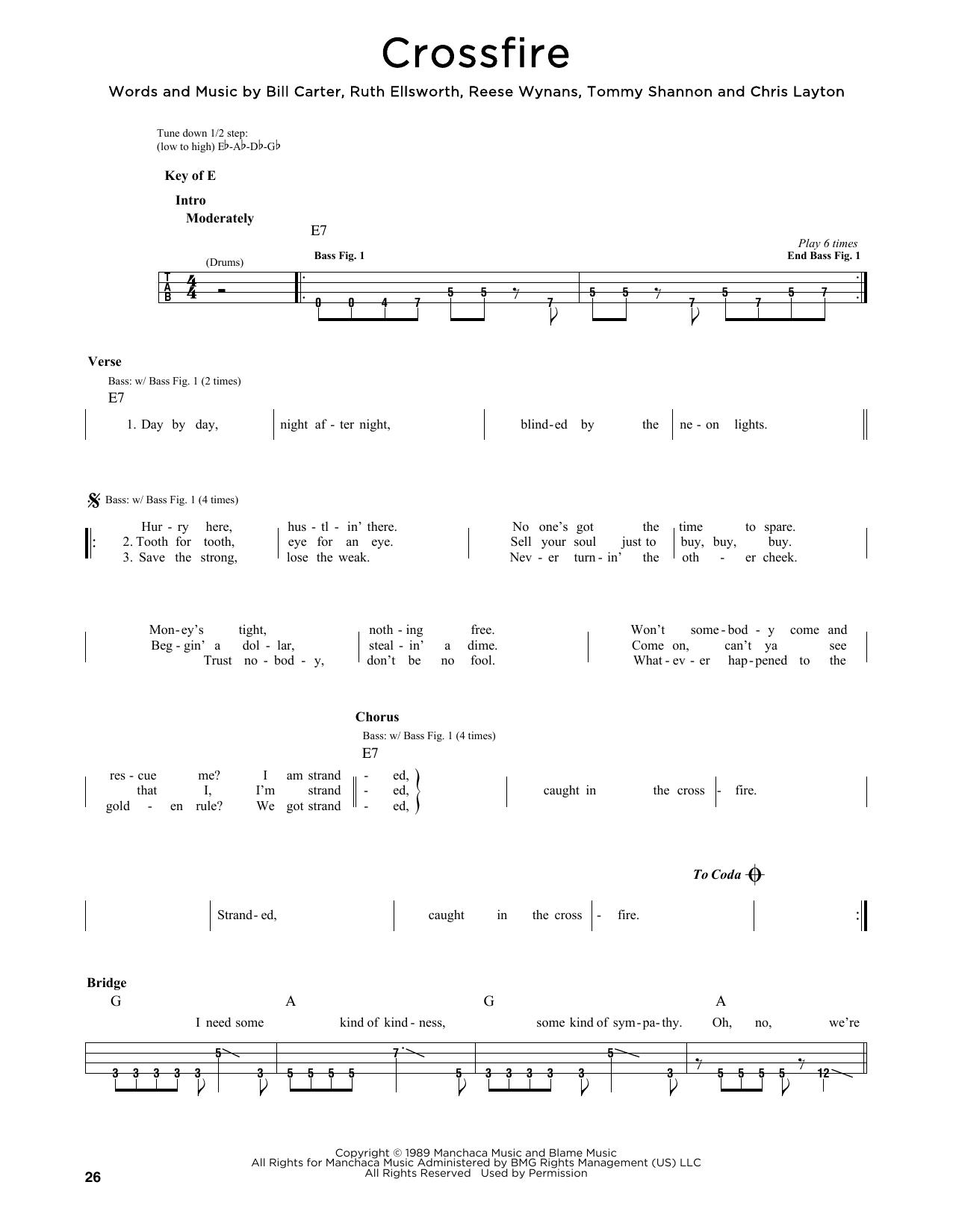 Crossfire Sheet Music