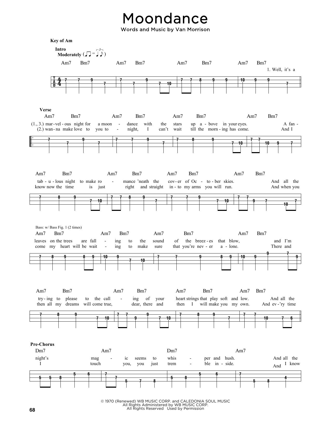 Moondance Sheet Music