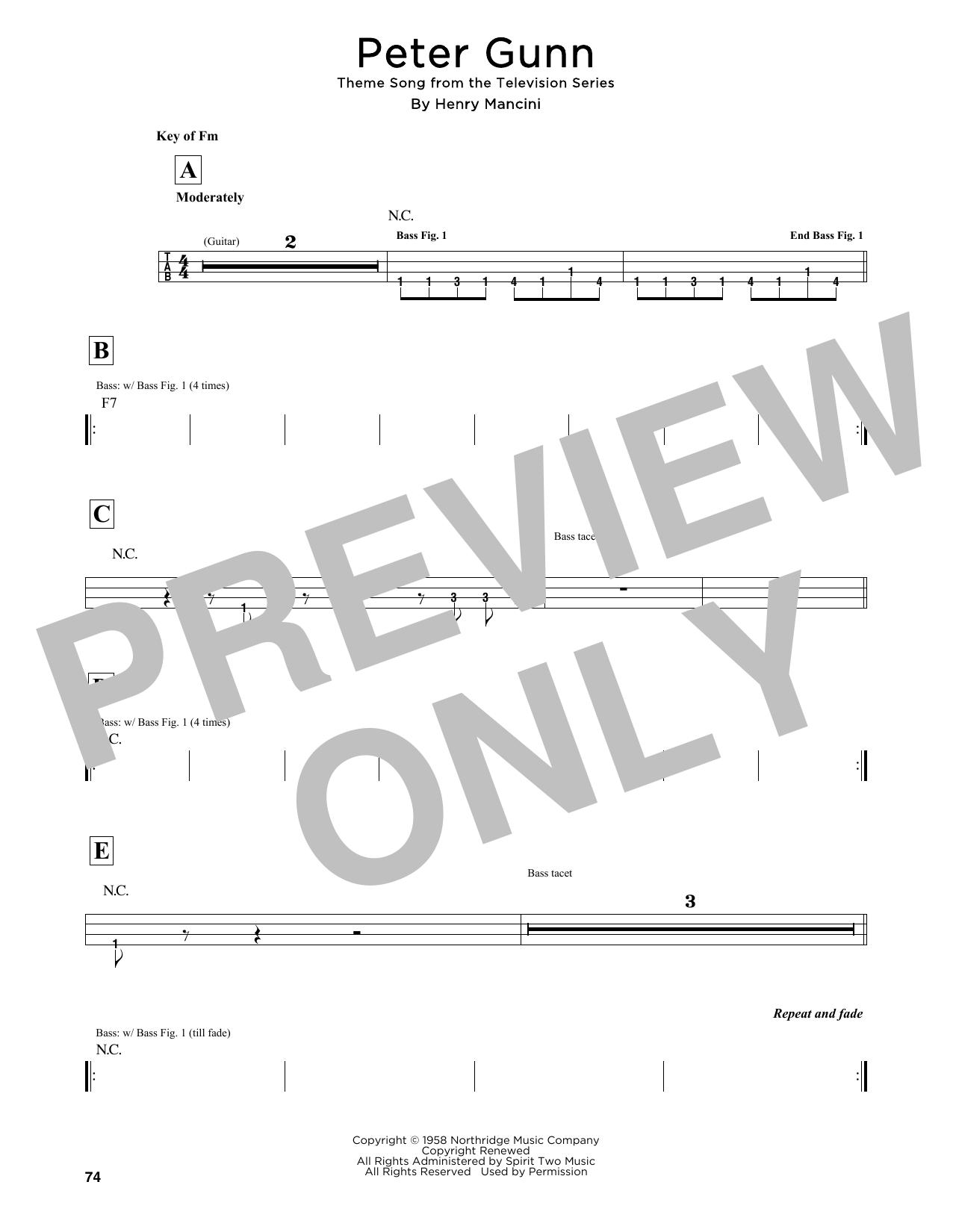 Peter Gunn Sheet Music