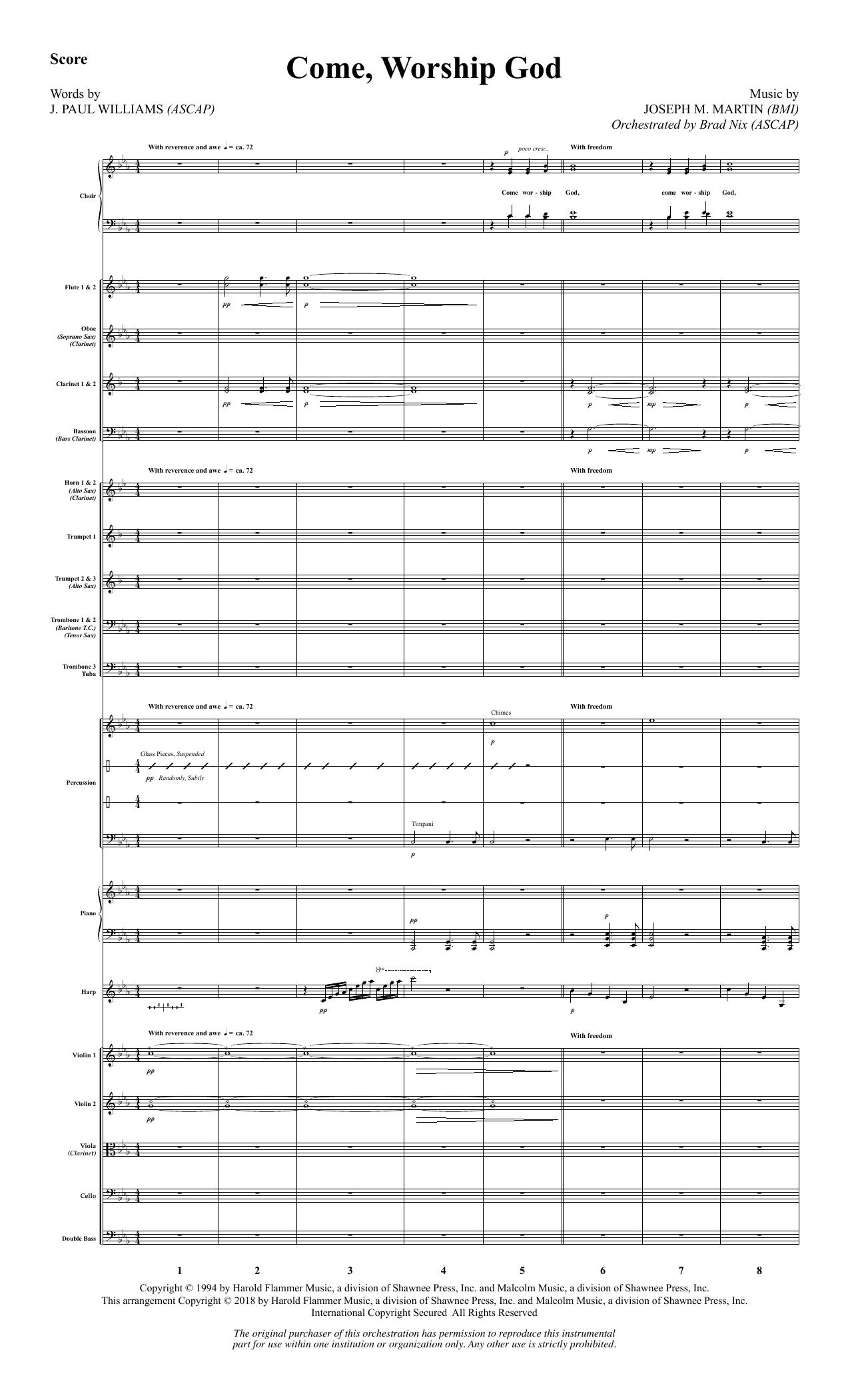 Come, Worship God - Full Score (Choir Instrumental Pak)