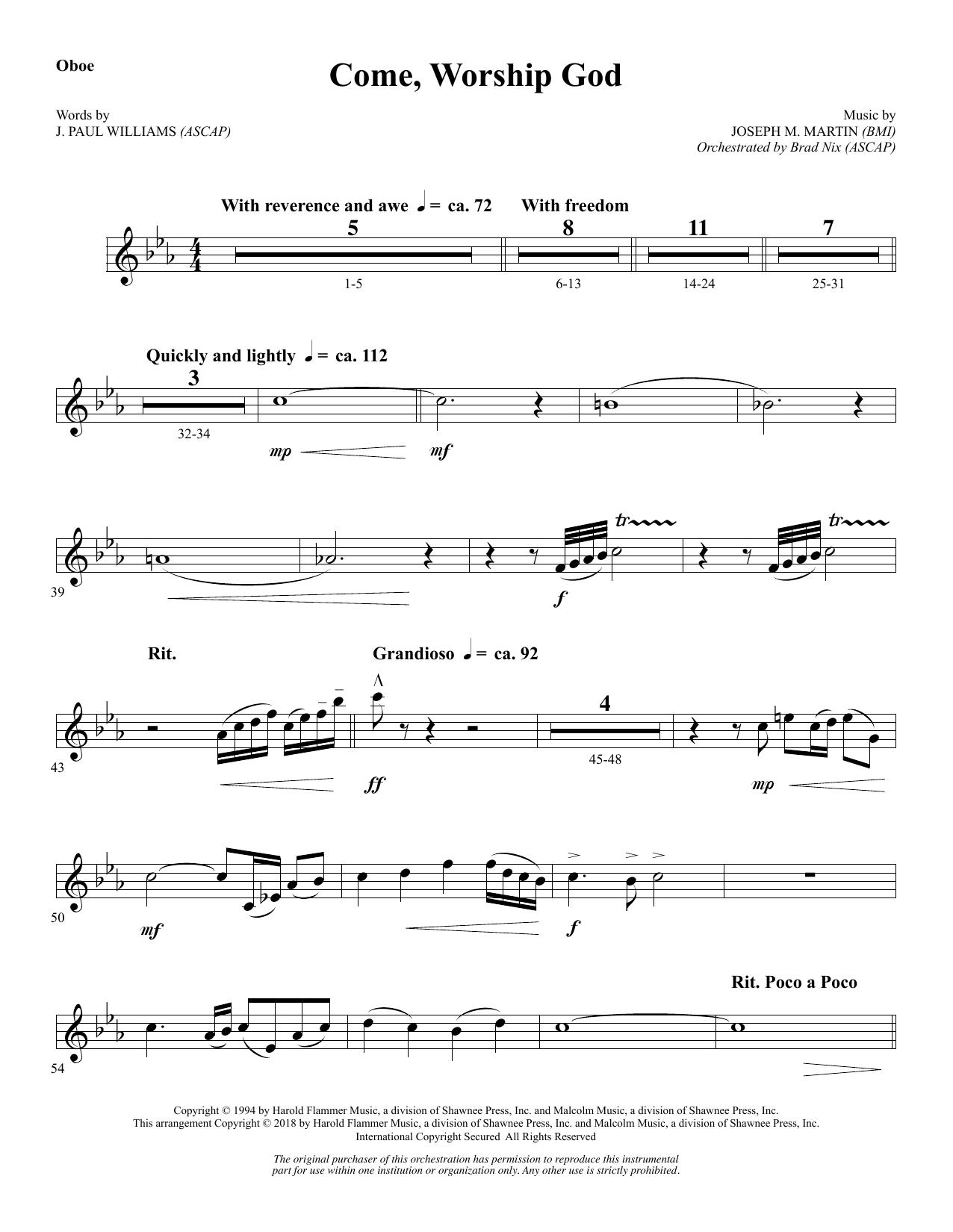 Come, Worship God - Oboe (Choir Instrumental Pak)