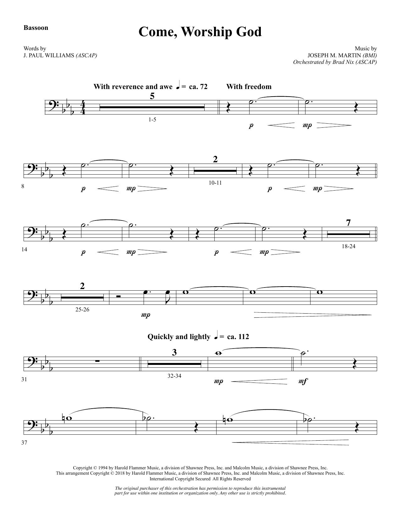 Come, Worship God - Bassoon (Choir Instrumental Pak)