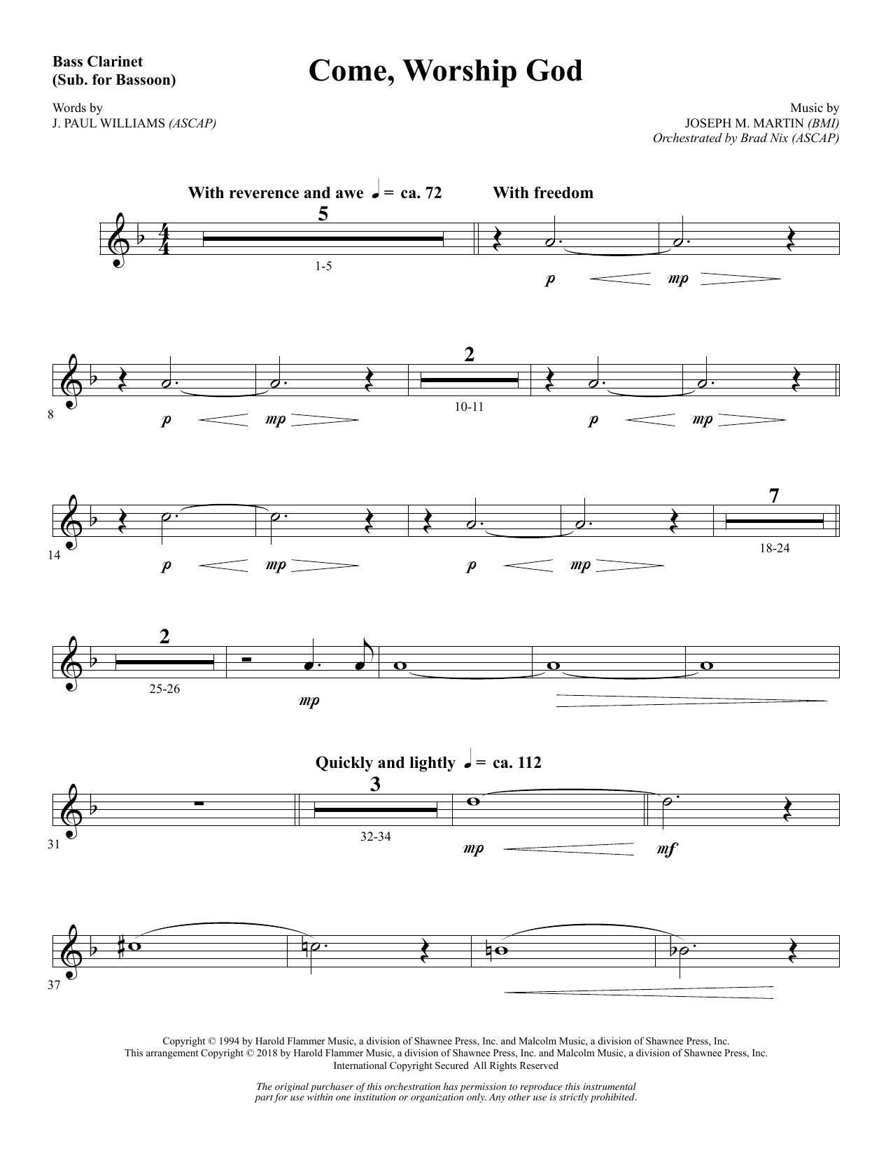 Come, Worship God - Bass Clarinet (sub. Bassoon) (Choir Instrumental Pak)
