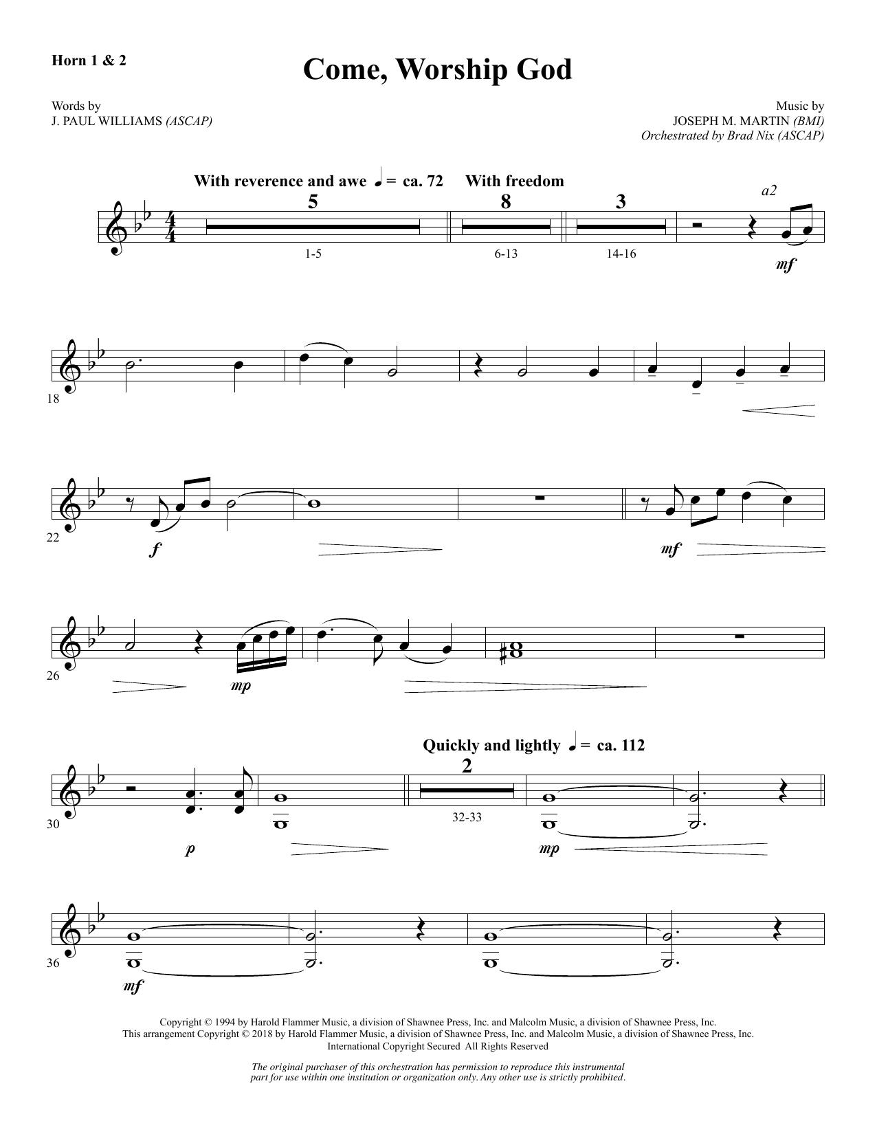 Come, Worship God - F Horn 1 & 2 (Choir Instrumental Pak)