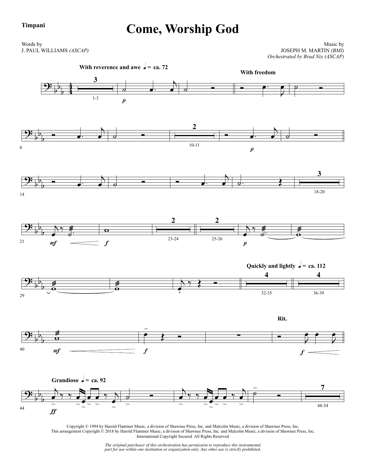 Come, Worship God - Timpani (Choir Instrumental Pak)
