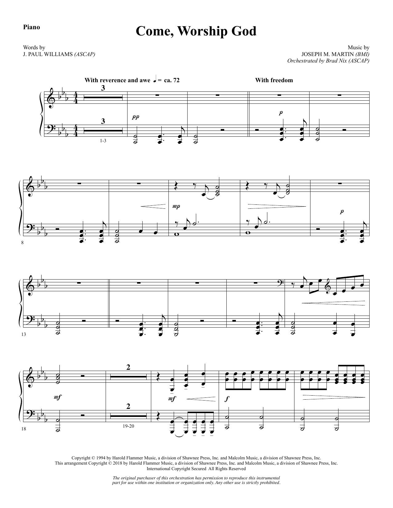Come, Worship God - Piano (Choir Instrumental Pak)