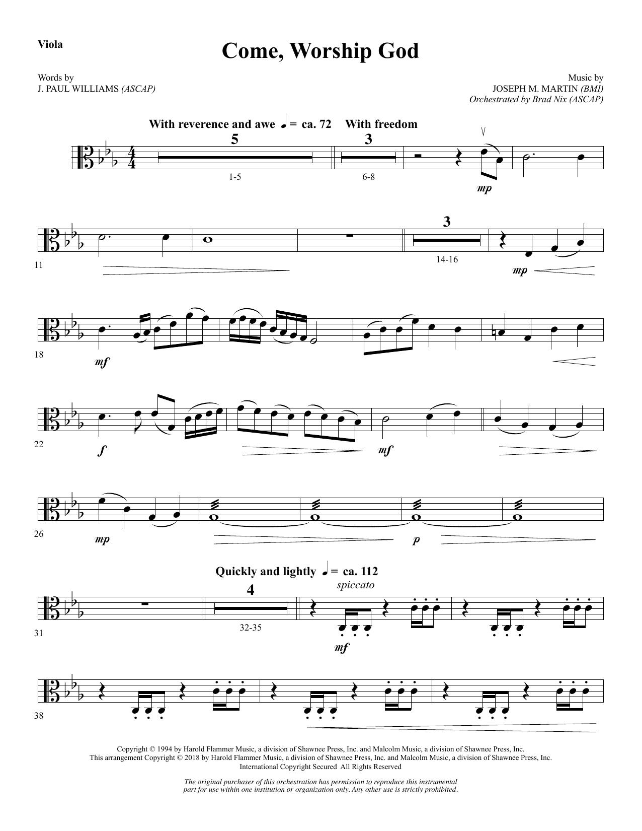 Come, Worship God - Viola (Choir Instrumental Pak)