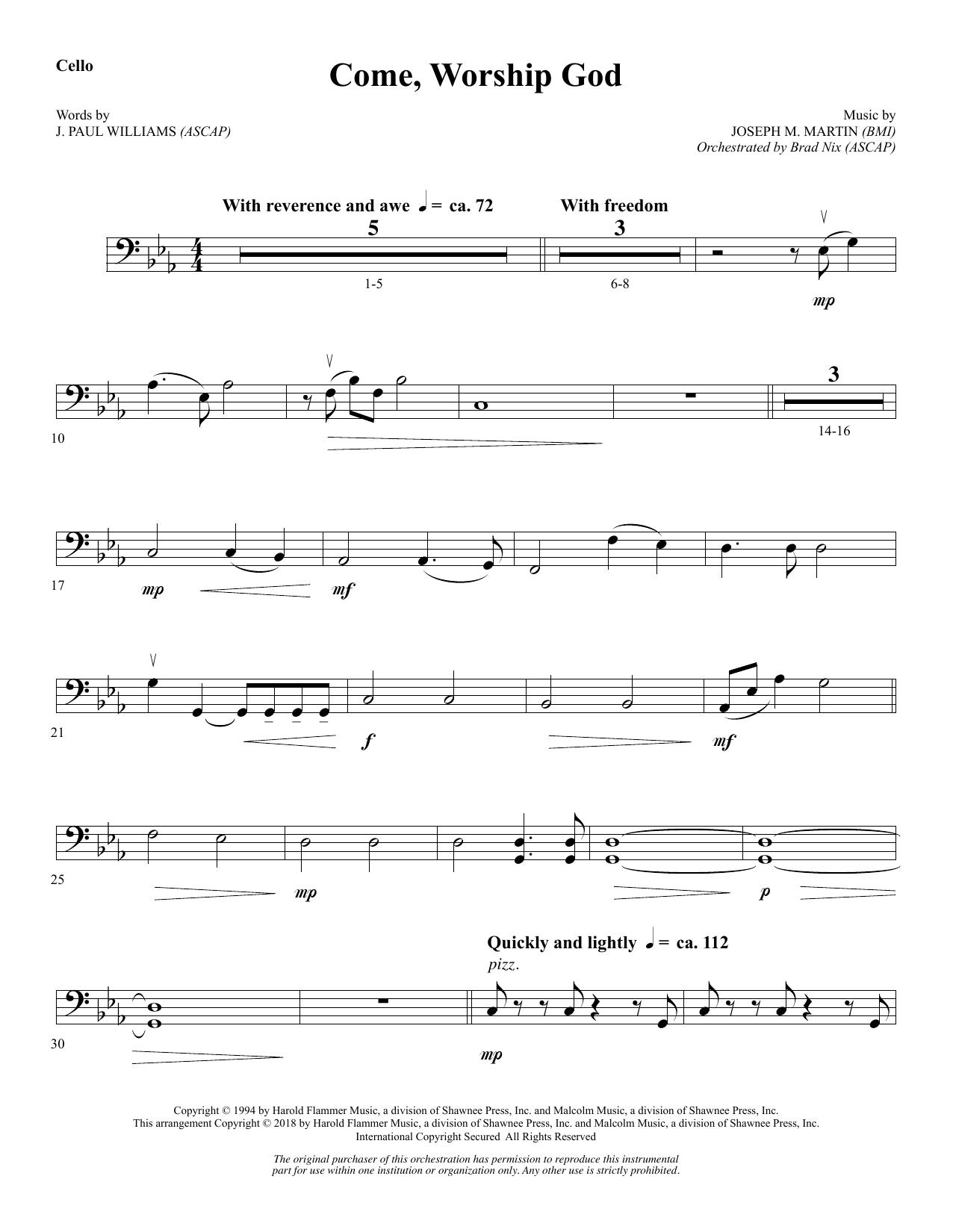 Come, Worship God - Cello (Choir Instrumental Pak)