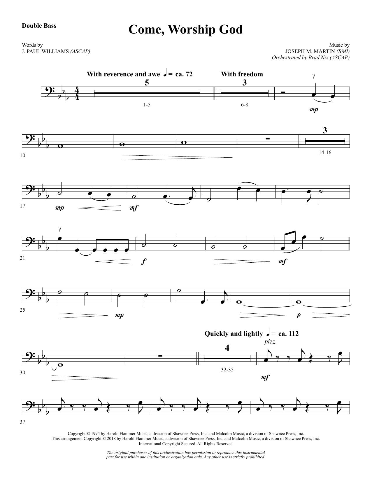 Come, Worship God - Double Bass (Choir Instrumental Pak)
