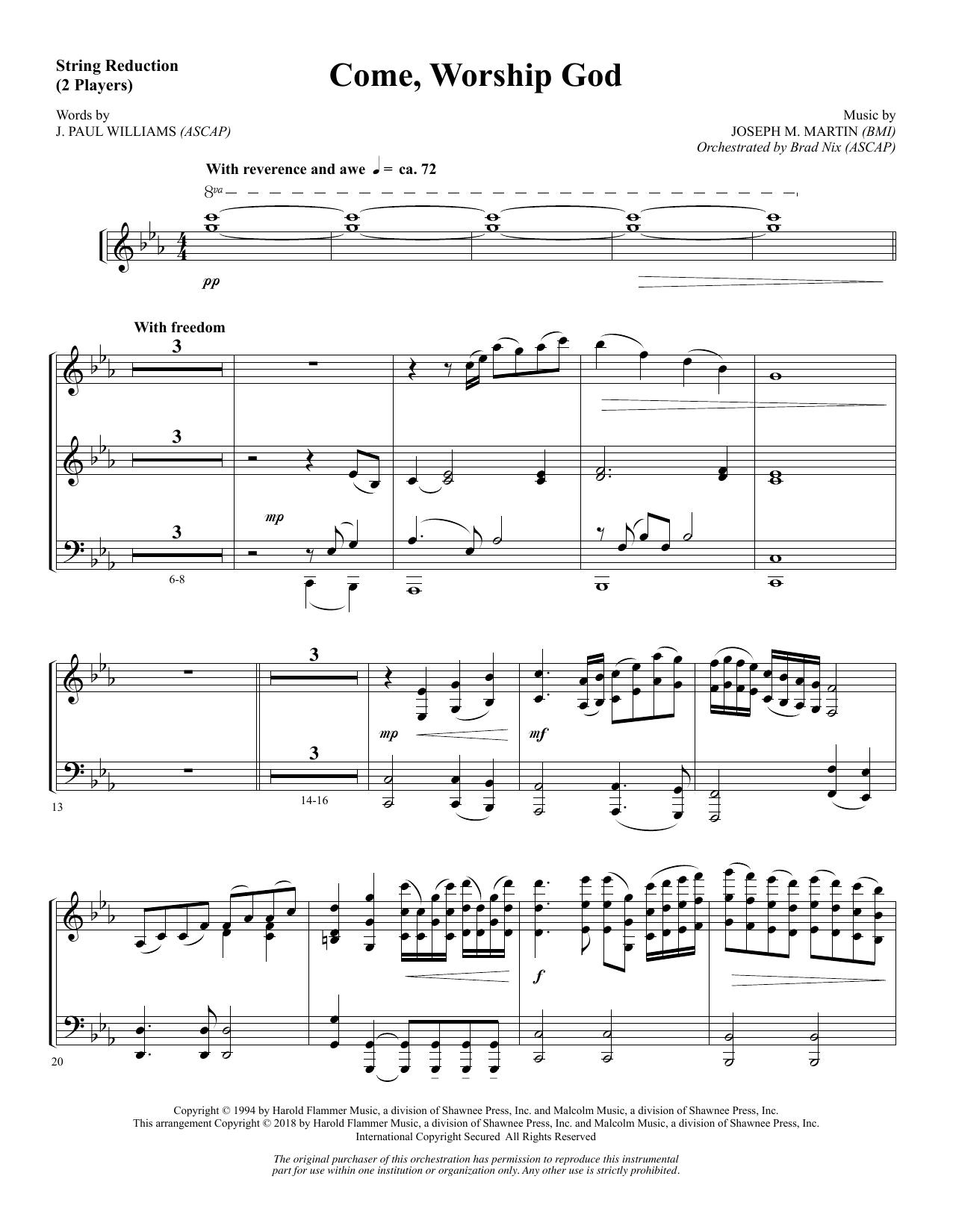 Come, Worship God - Keyboard String Reduction (Choir Instrumental Pak)
