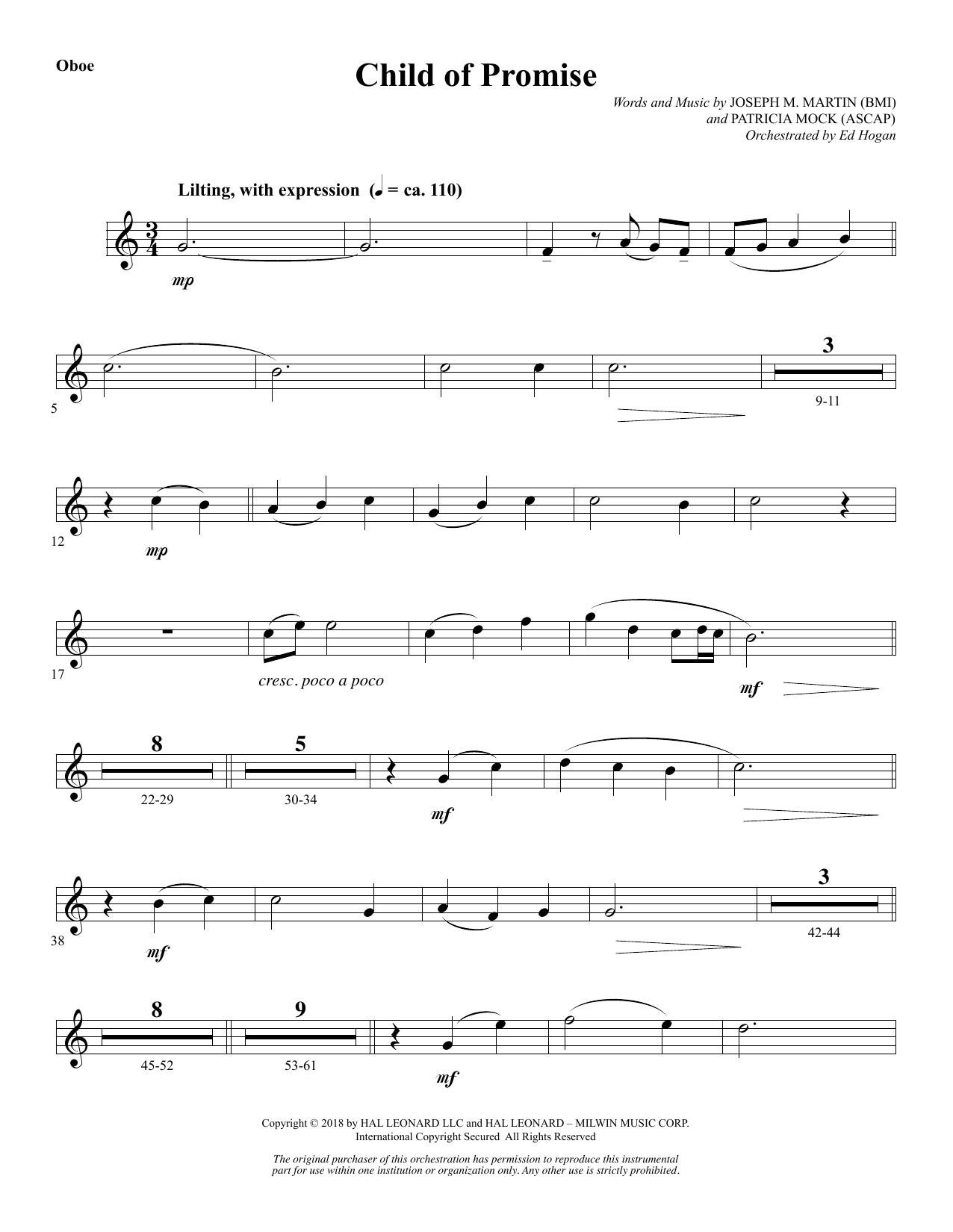 Child of Promise - Oboe (Choir Instrumental Pak)