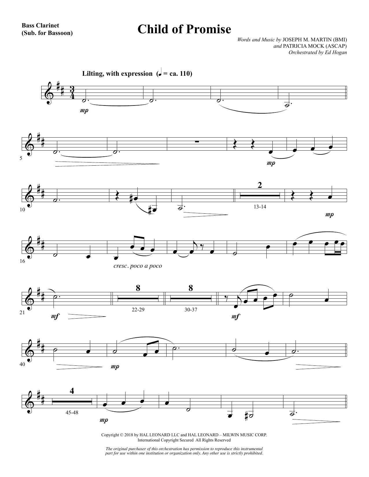 Child of Promise - Bass Clarinet (sub. Bassoon) (Choir Instrumental Pak)