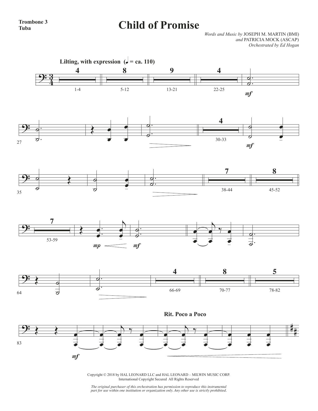 Child of Promise - Trombone 3/Tuba (Choir Instrumental Pak)