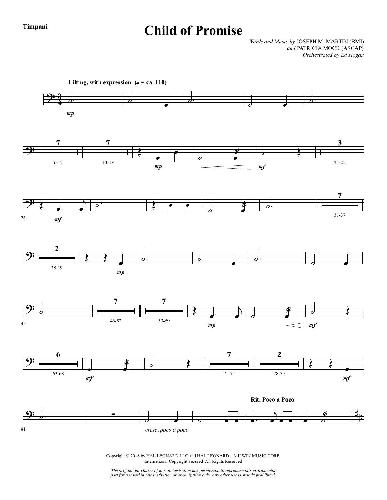 Child of Promise - Timpani (Choir Instrumental Pak)