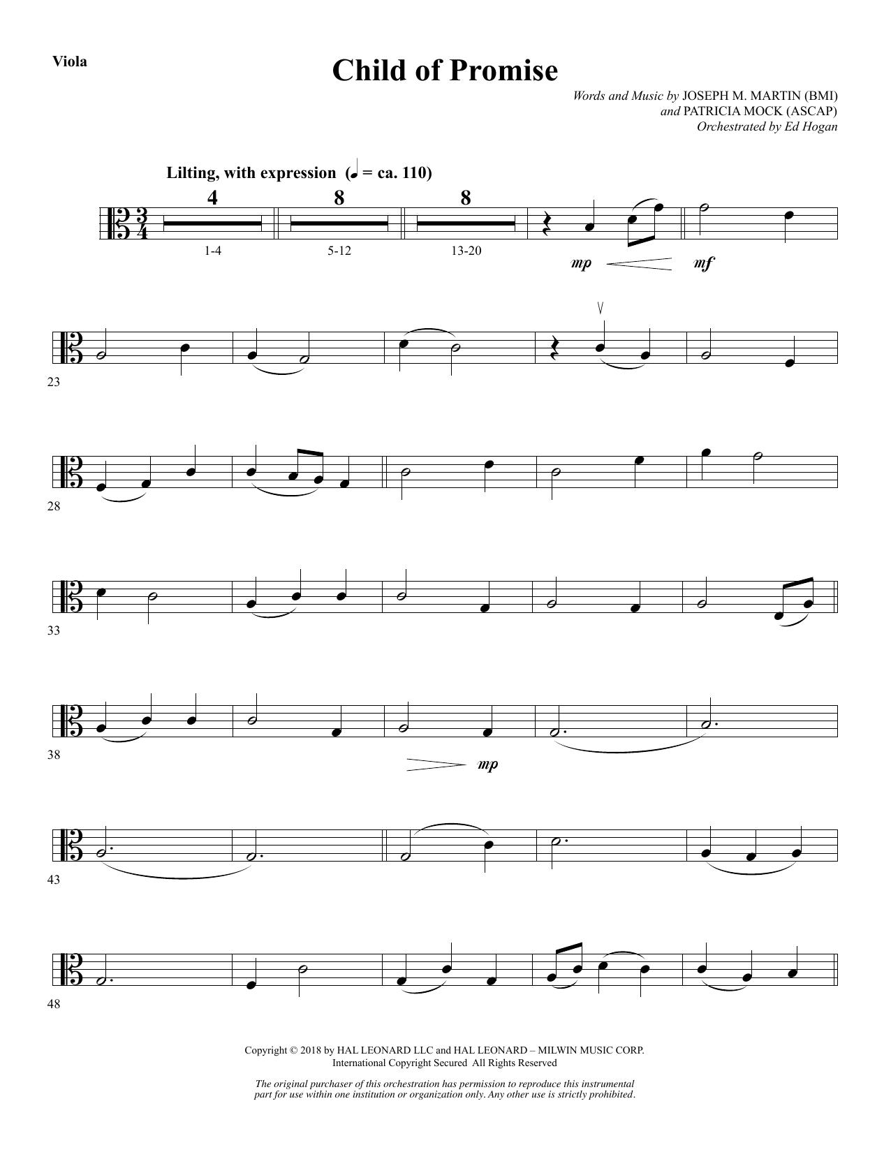 Child of Promise - Viola (Choir Instrumental Pak)