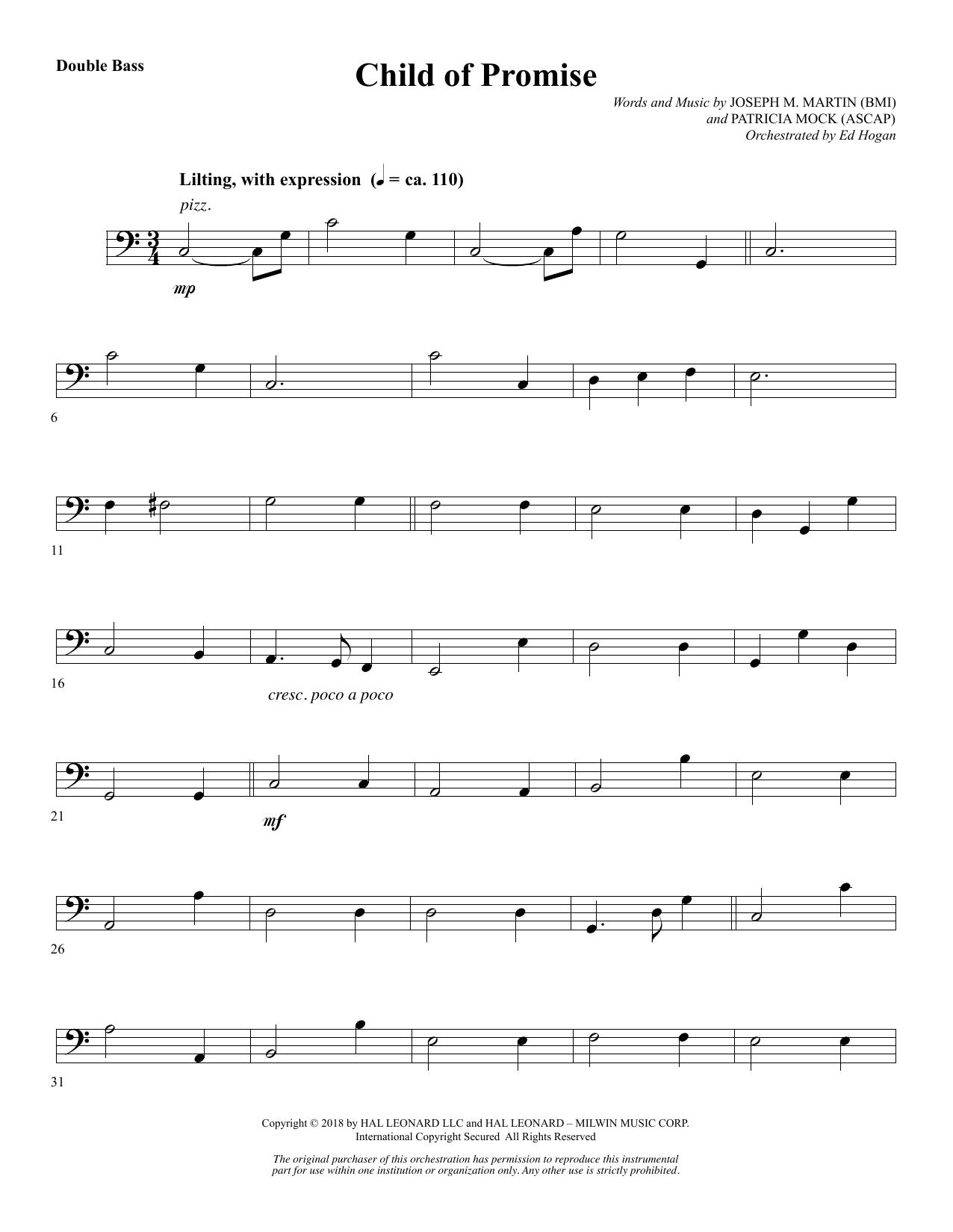 Child of Promise - Double Bass (Choir Instrumental Pak)
