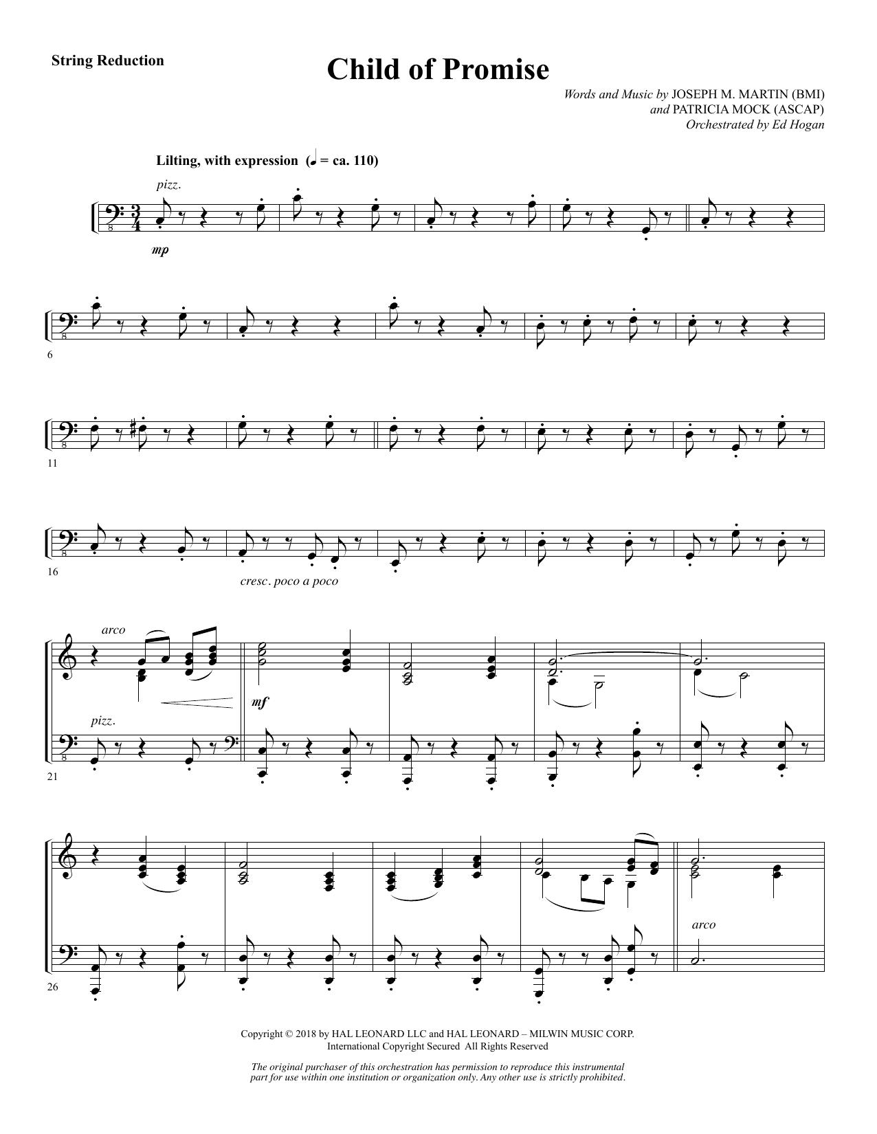 Child of Promise - Keyboard String Reduction (Choir Instrumental Pak)
