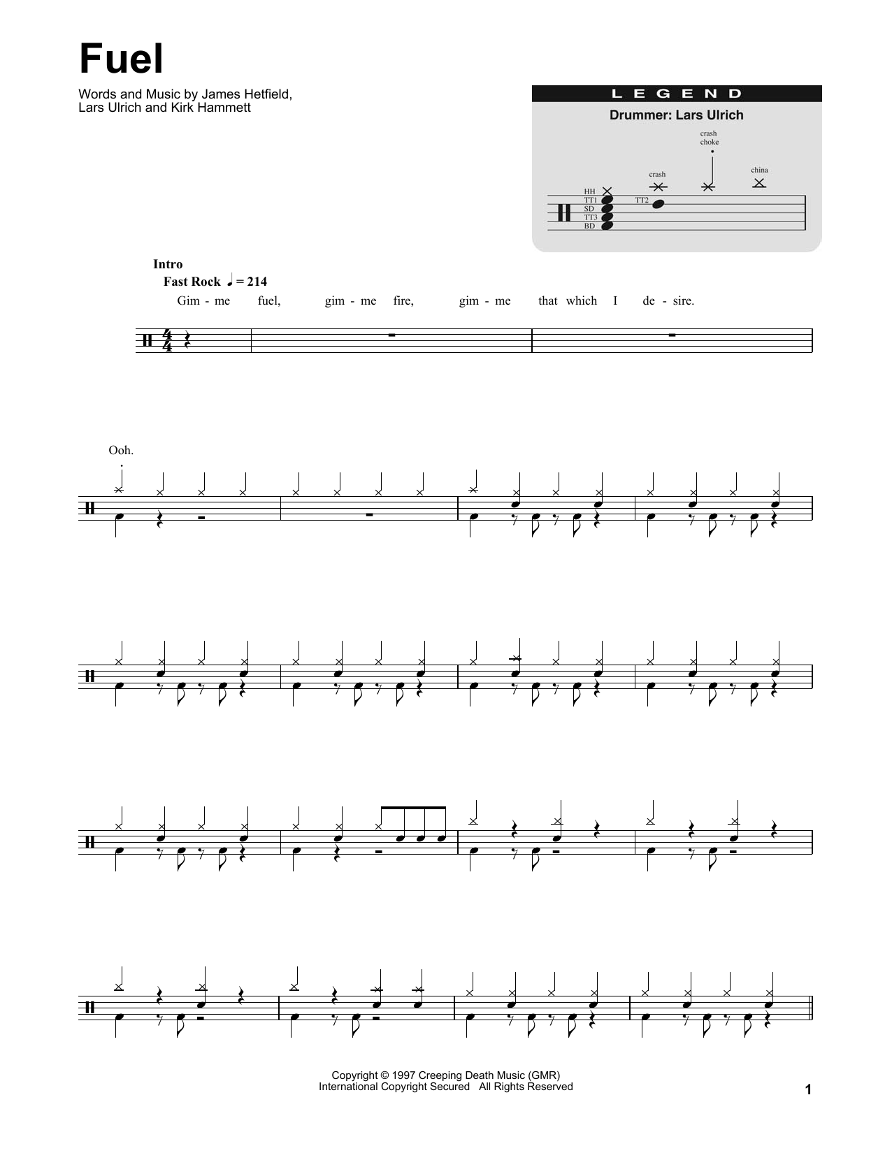Fuel Sheet Music