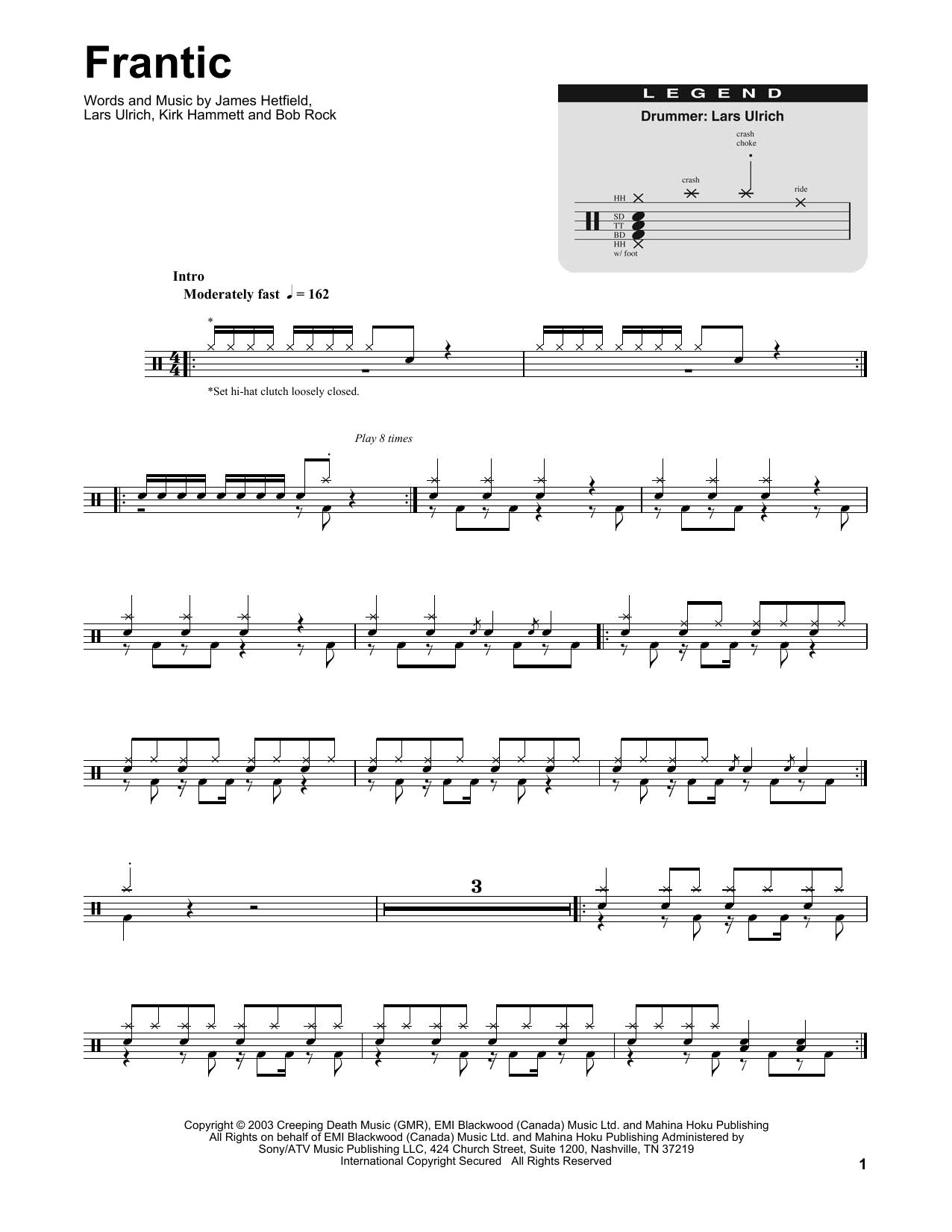 Frantic Sheet Music