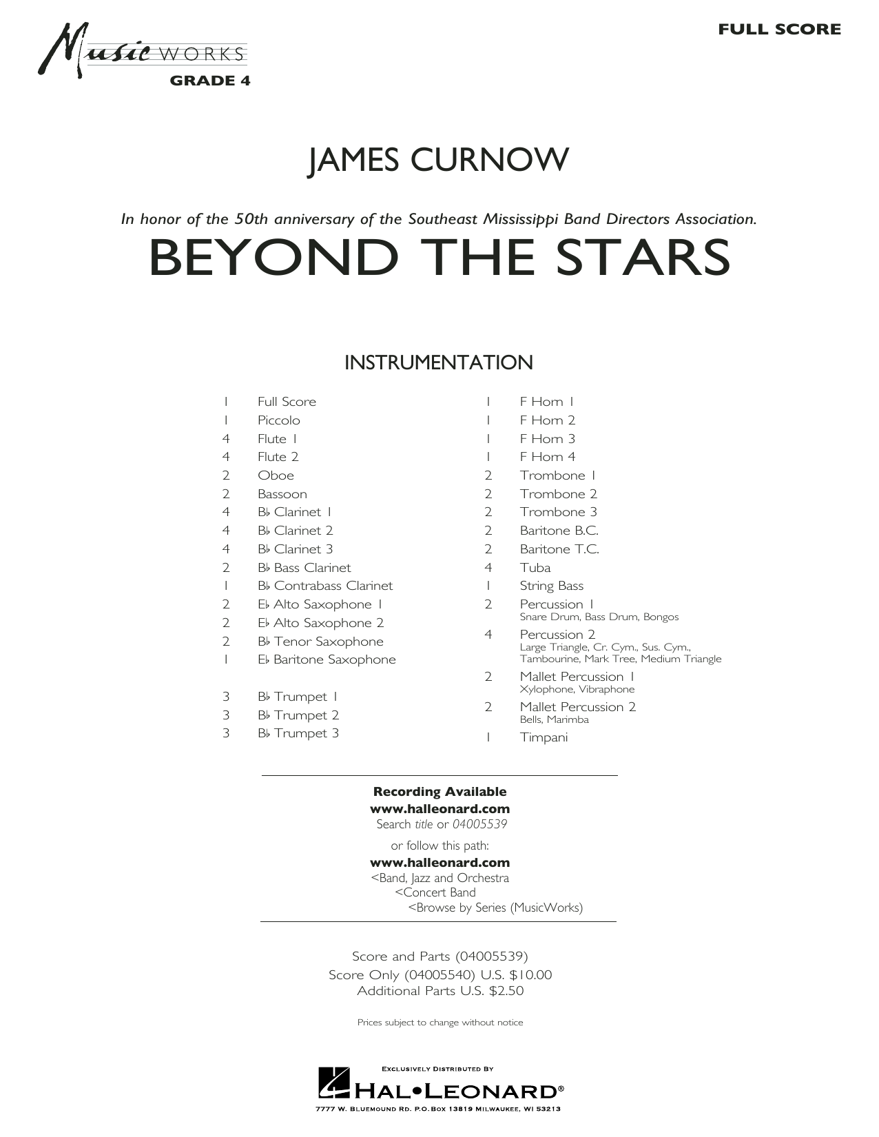 Beyond the Stars - Conductor Score (Full Score) (Concert Band)