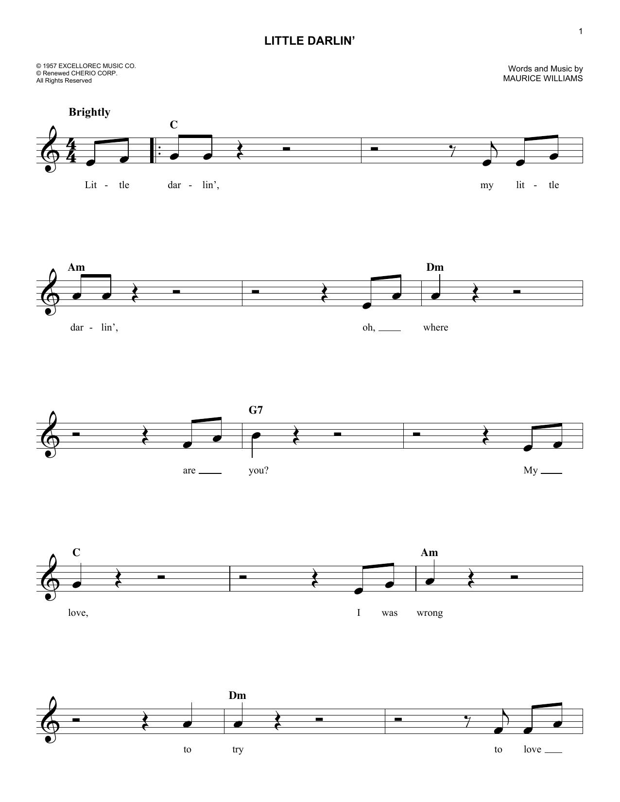 Little Darlin' Sheet Music
