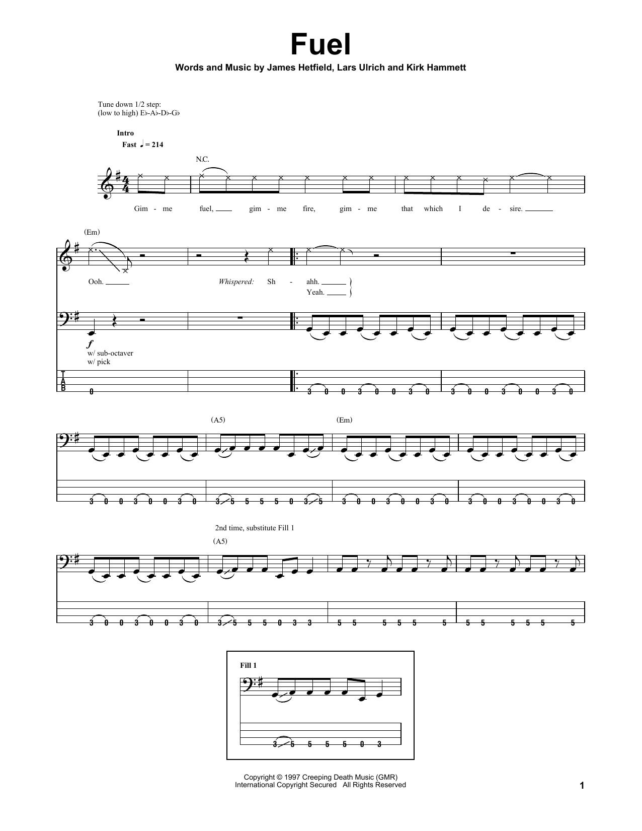 Fuel Sheet Music