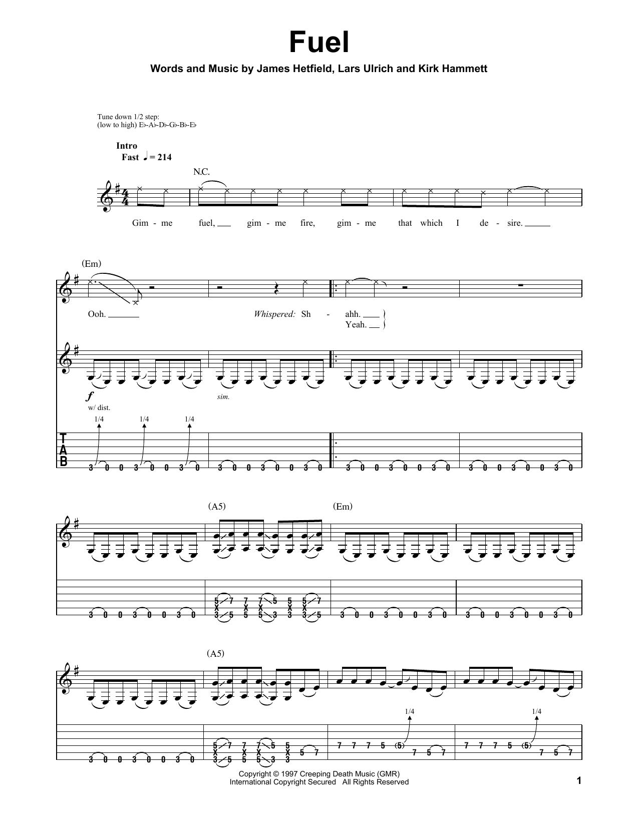 Fuel (Guitar Tab (Single Guitar))