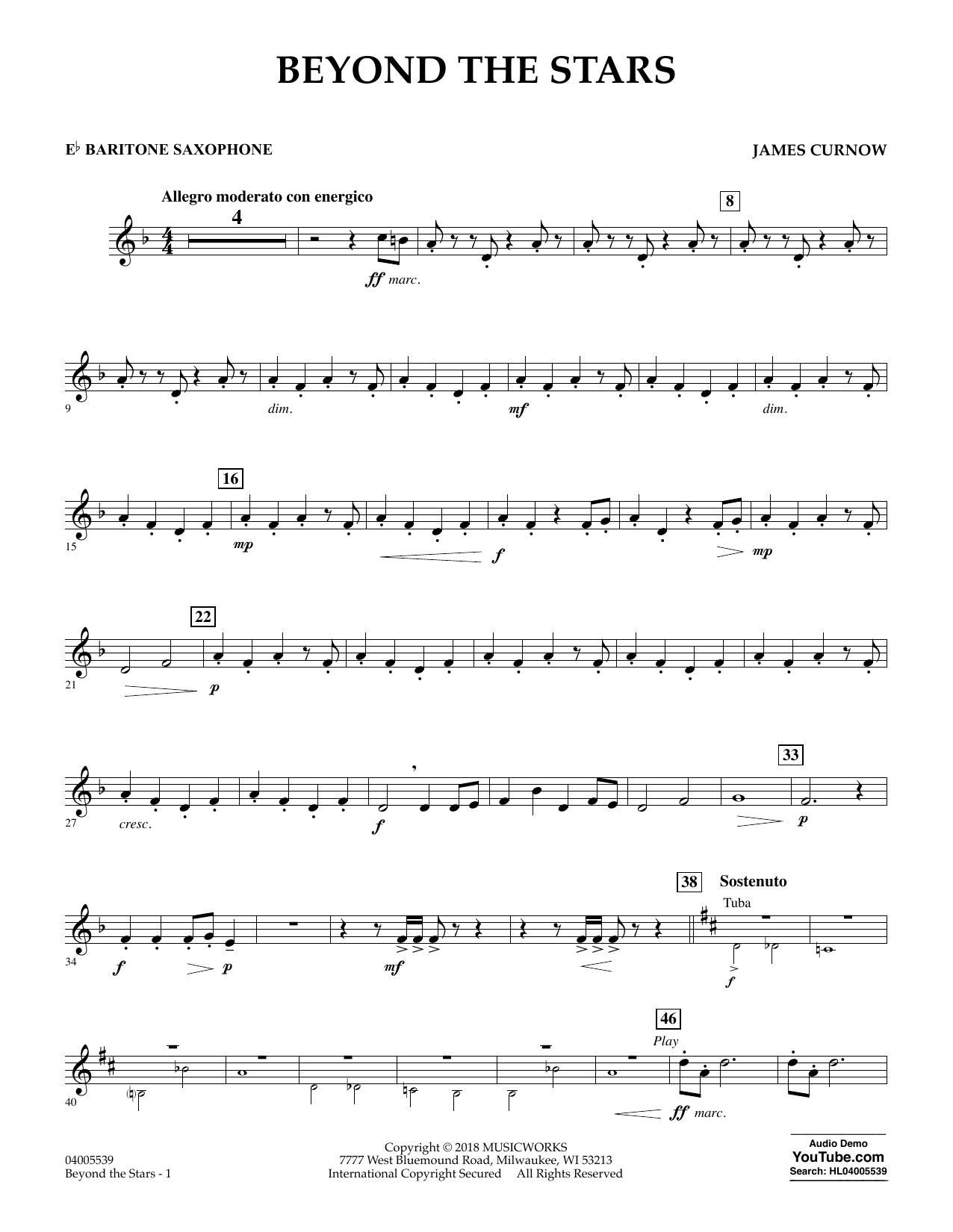 Beyond the Stars - Eb Baritone Saxophone (Concert Band)