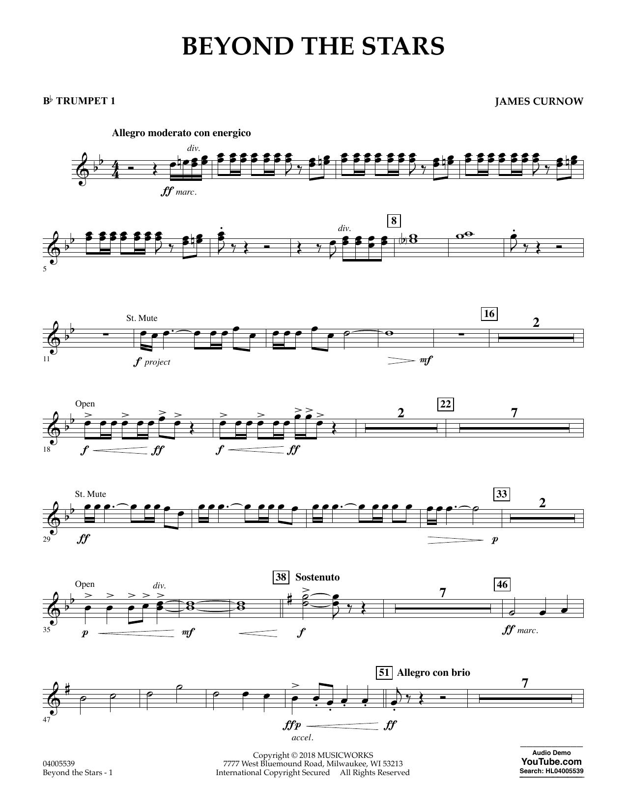 Beyond the Stars - Bb Trumpet 1 (Concert Band)