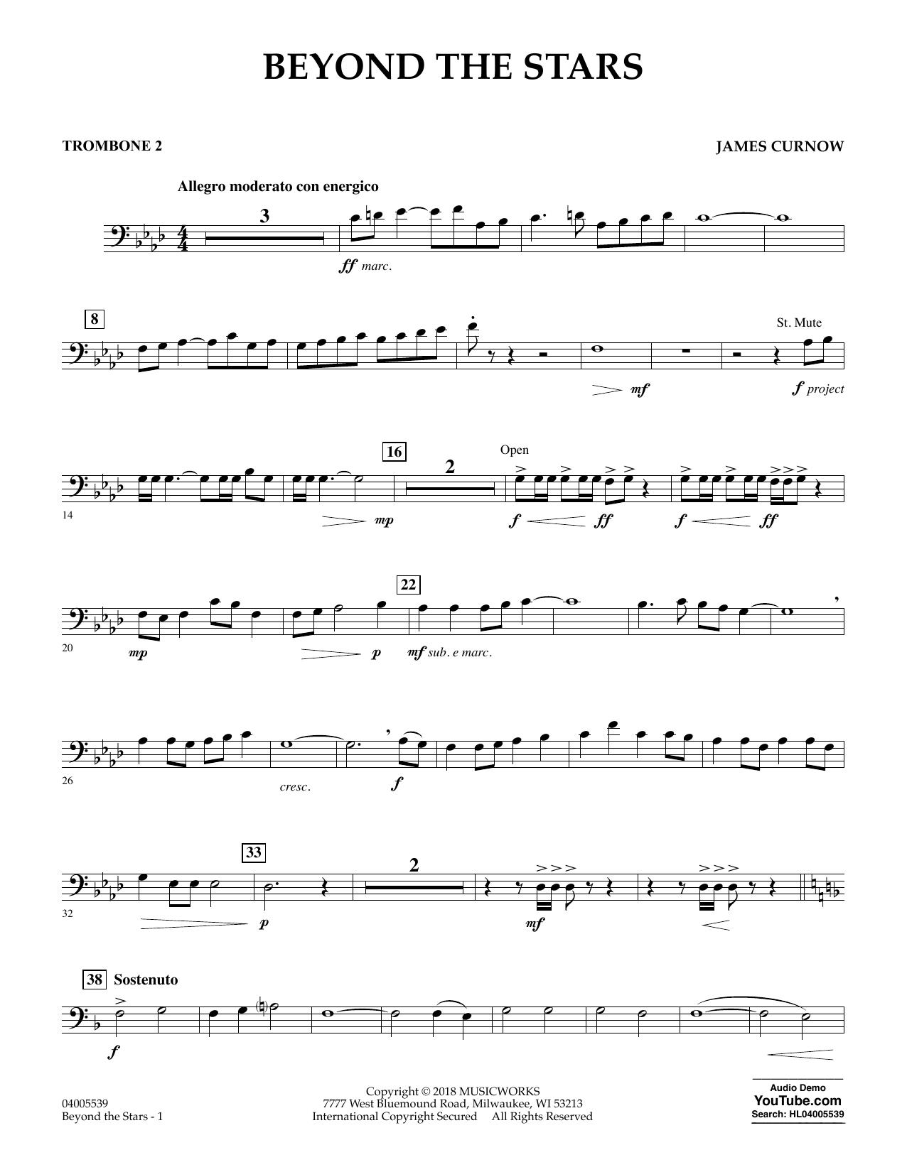 Beyond the Stars - Trombone 2 (Concert Band)