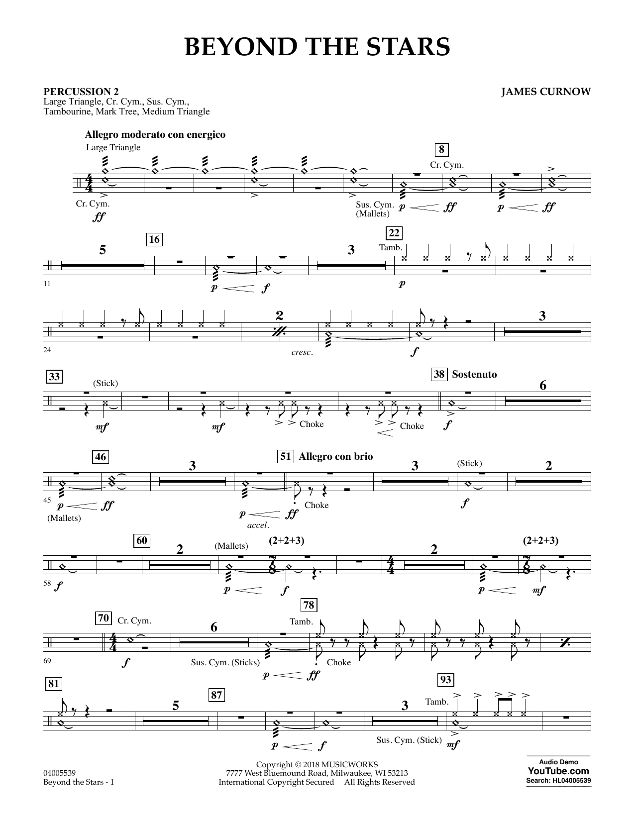 Beyond the Stars - Percussion 2 (Concert Band)