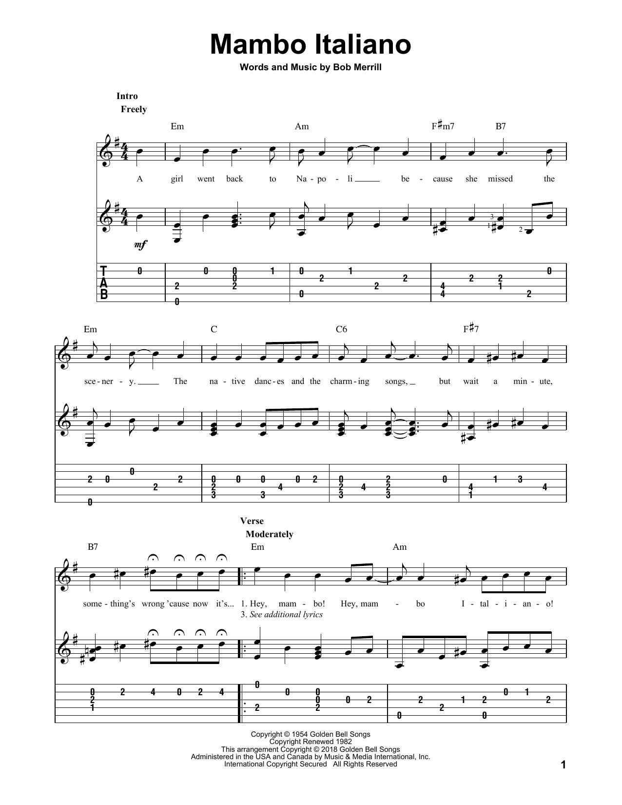 Mambo Italiano Sheet Music