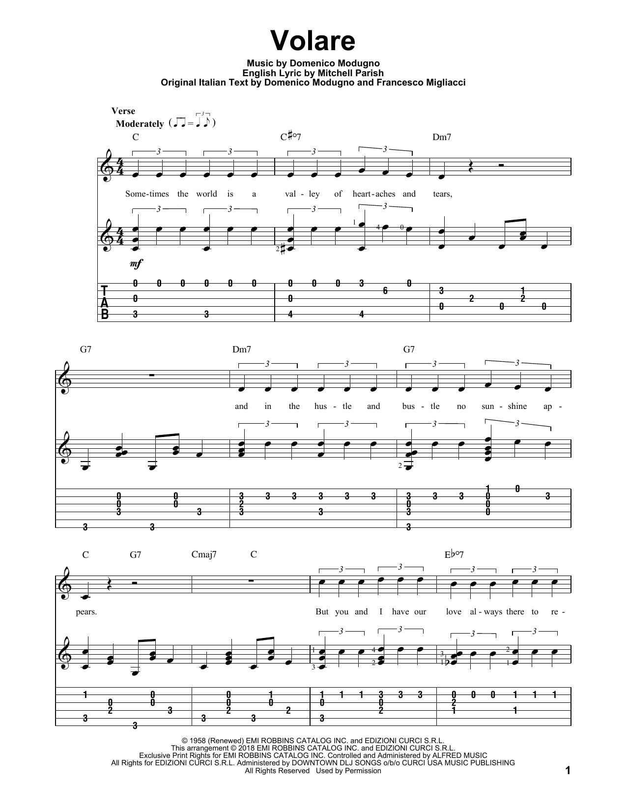 Volare Sheet Music