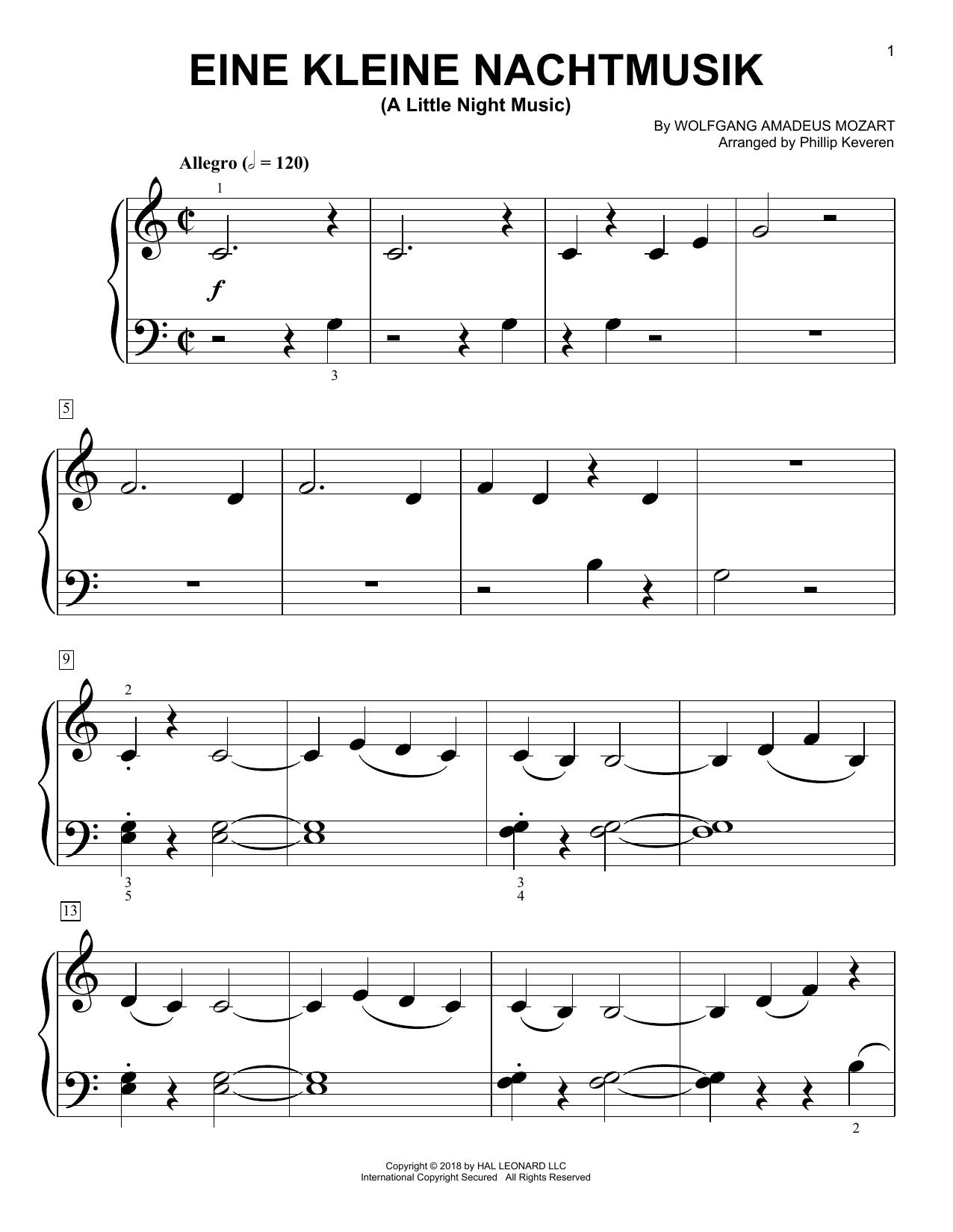 Eine Kleine Nachtmusik, K. 525 (Big Note Piano)