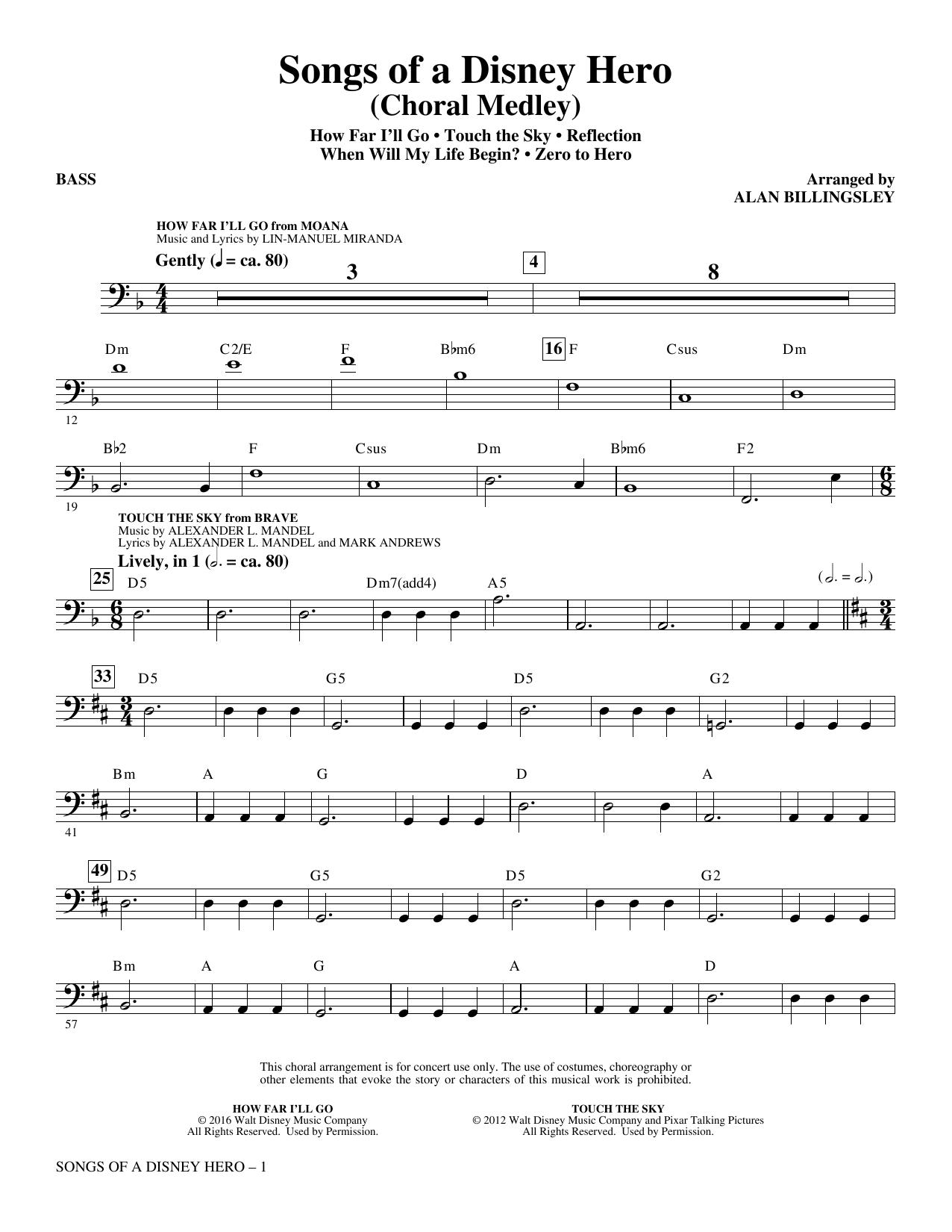 Songs of a Disney Hero - Bass (Choir Instrumental Pak)