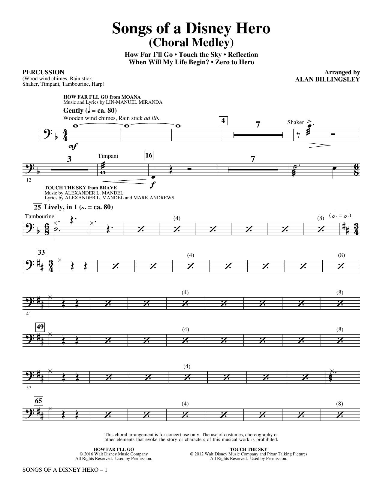 Songs of a Disney Hero - Percussion (Choir Instrumental Pak)