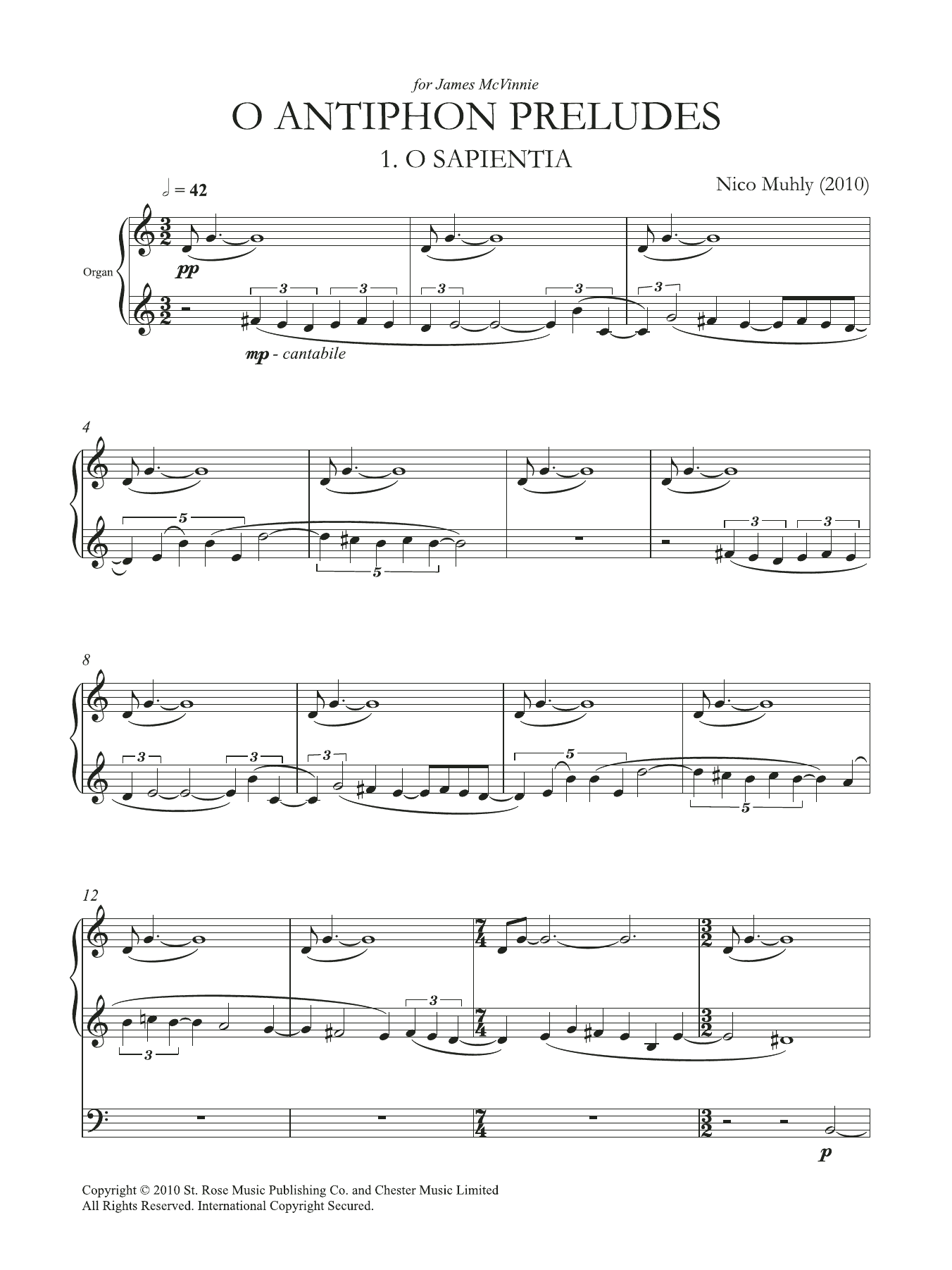 O Antiphon Preludes Sheet Music