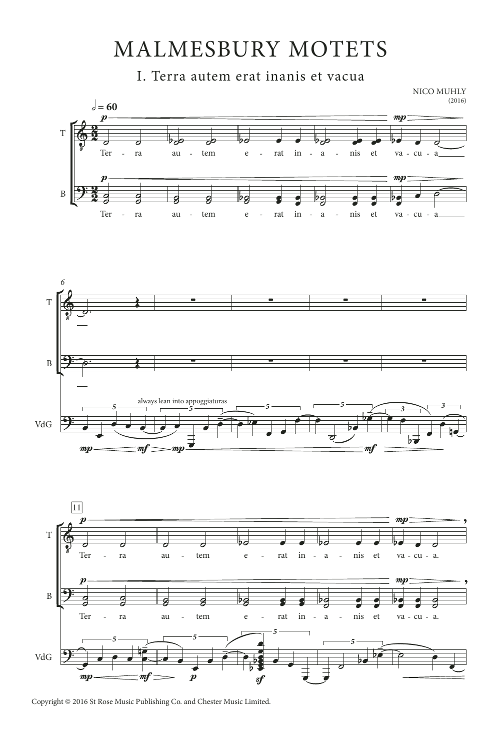 Malmesbury Motets Sheet Music