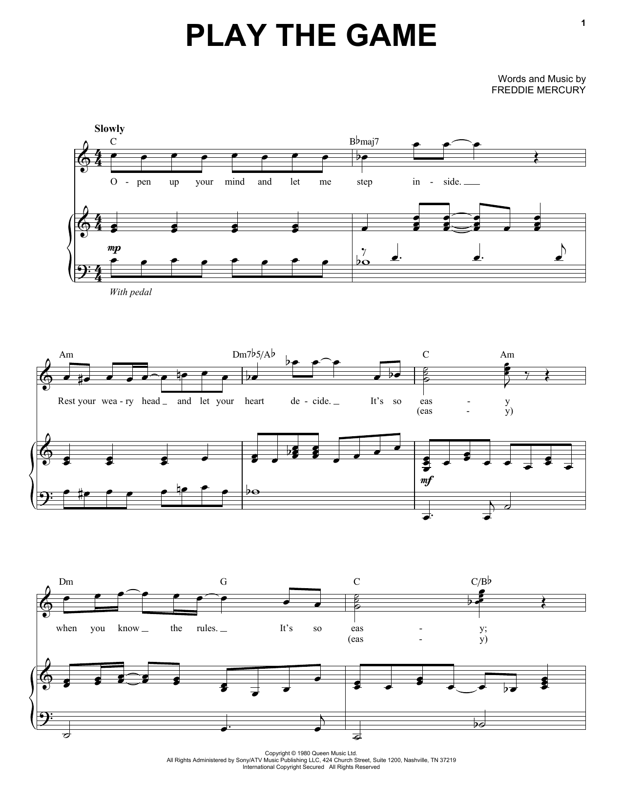 Play The Game (Piano & Vocal)