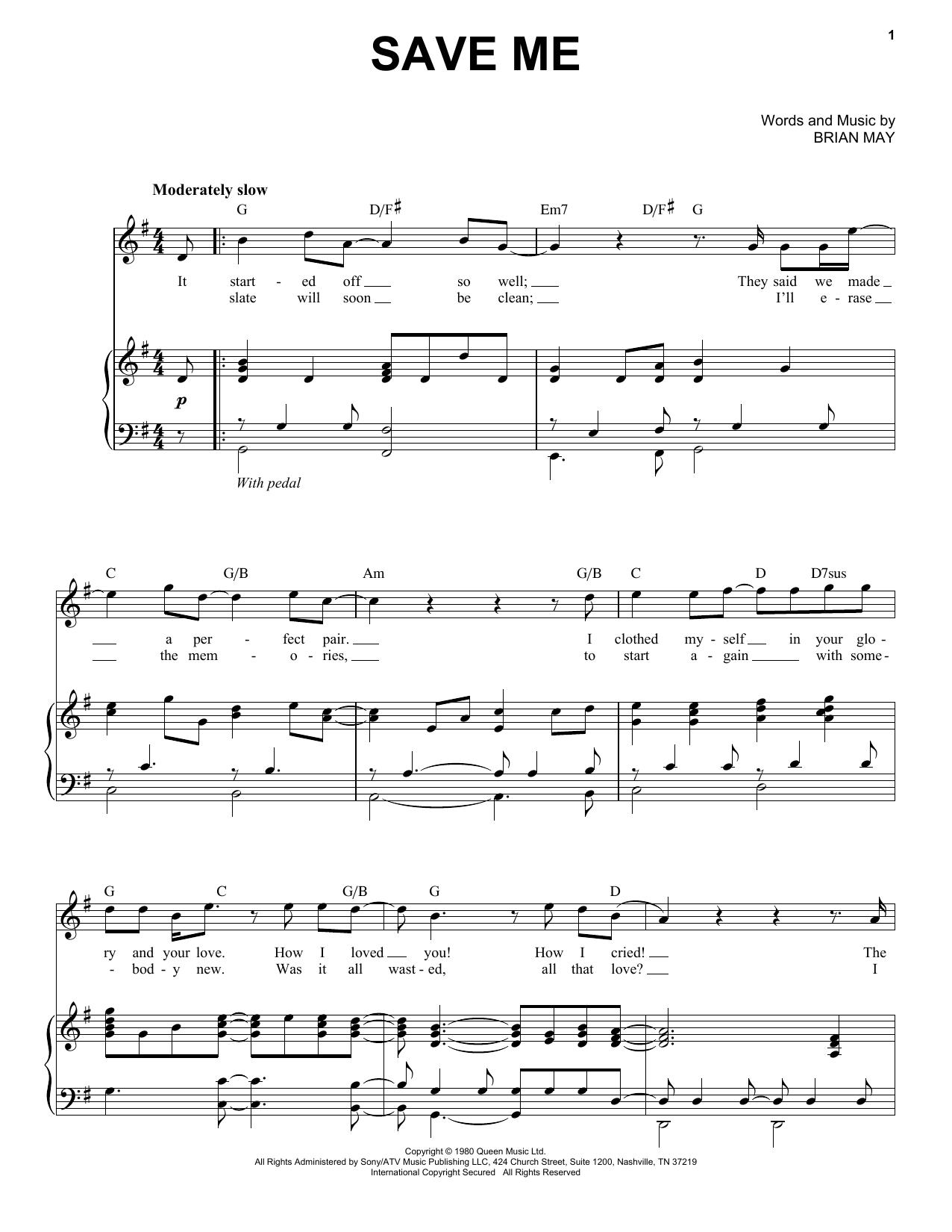 Save Me (Piano & Vocal)