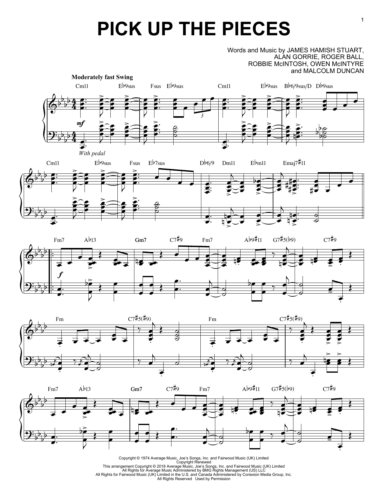 Pick Up The Pieces [Jazz version] (Piano Solo)