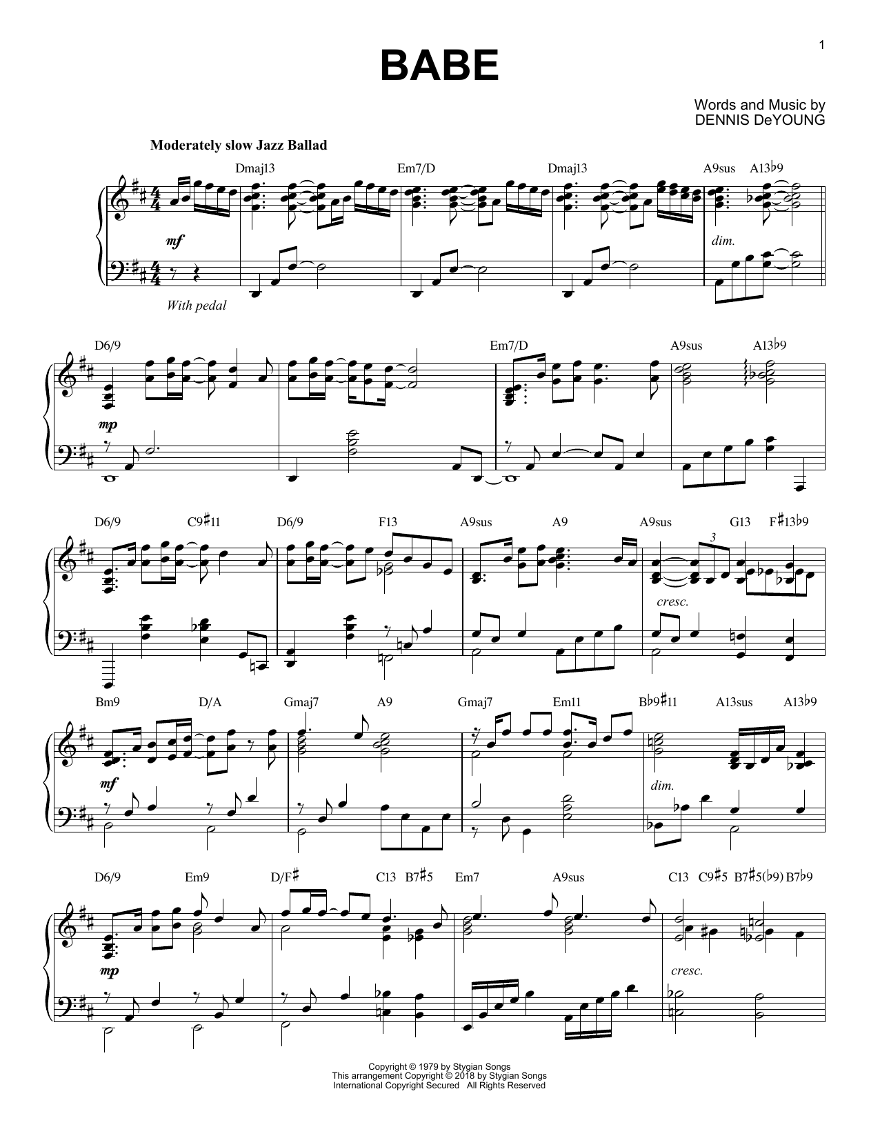 Babe (Piano Solo)